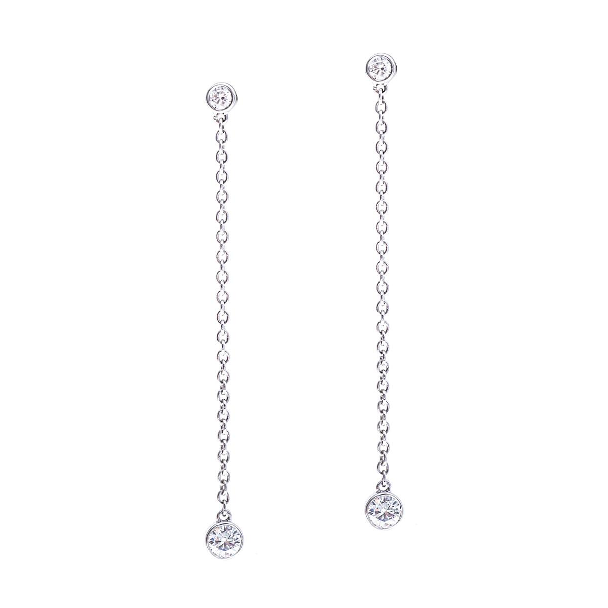 Mémoire® 0.20 CTW Diamond Pebbles Drop Earrings