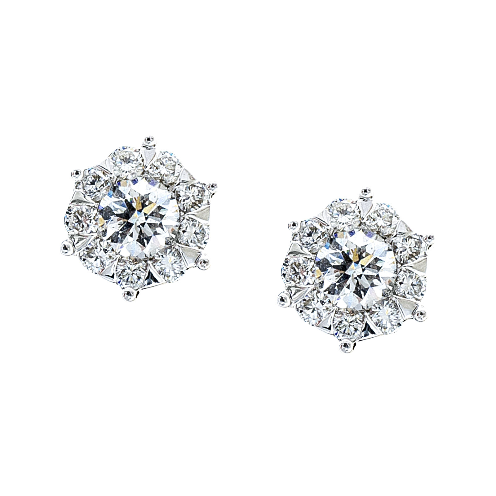 New Mémoire® 0.66 CTW Diamond Bouquets Stud Earrings
