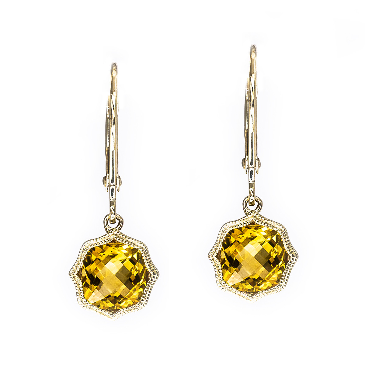 1.56 CTW Citrine Earrings