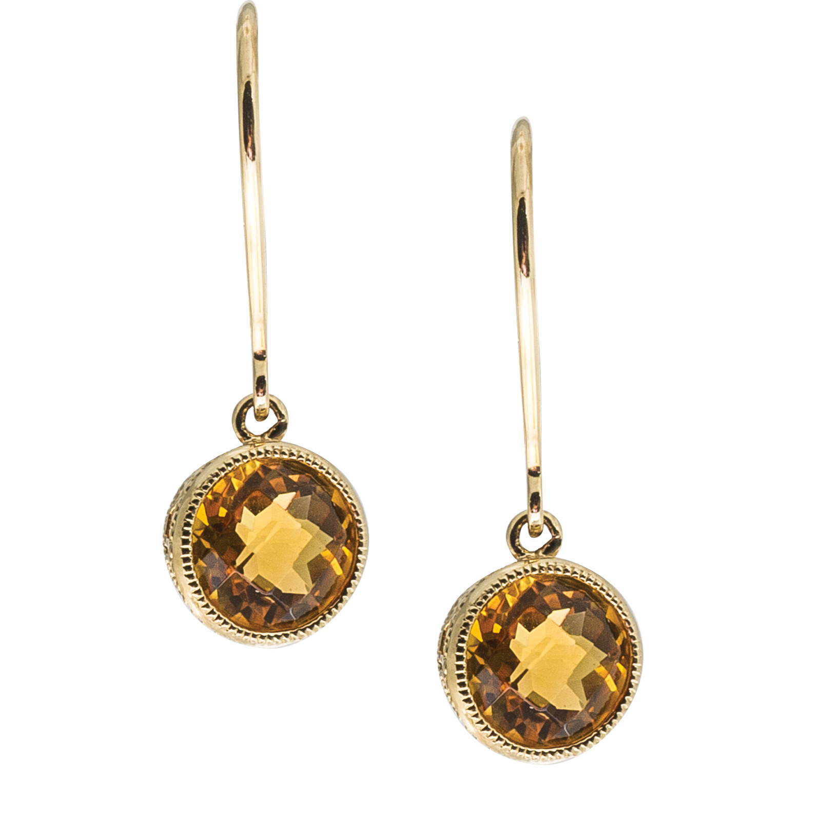 1.36 CTW Citrine Earrings