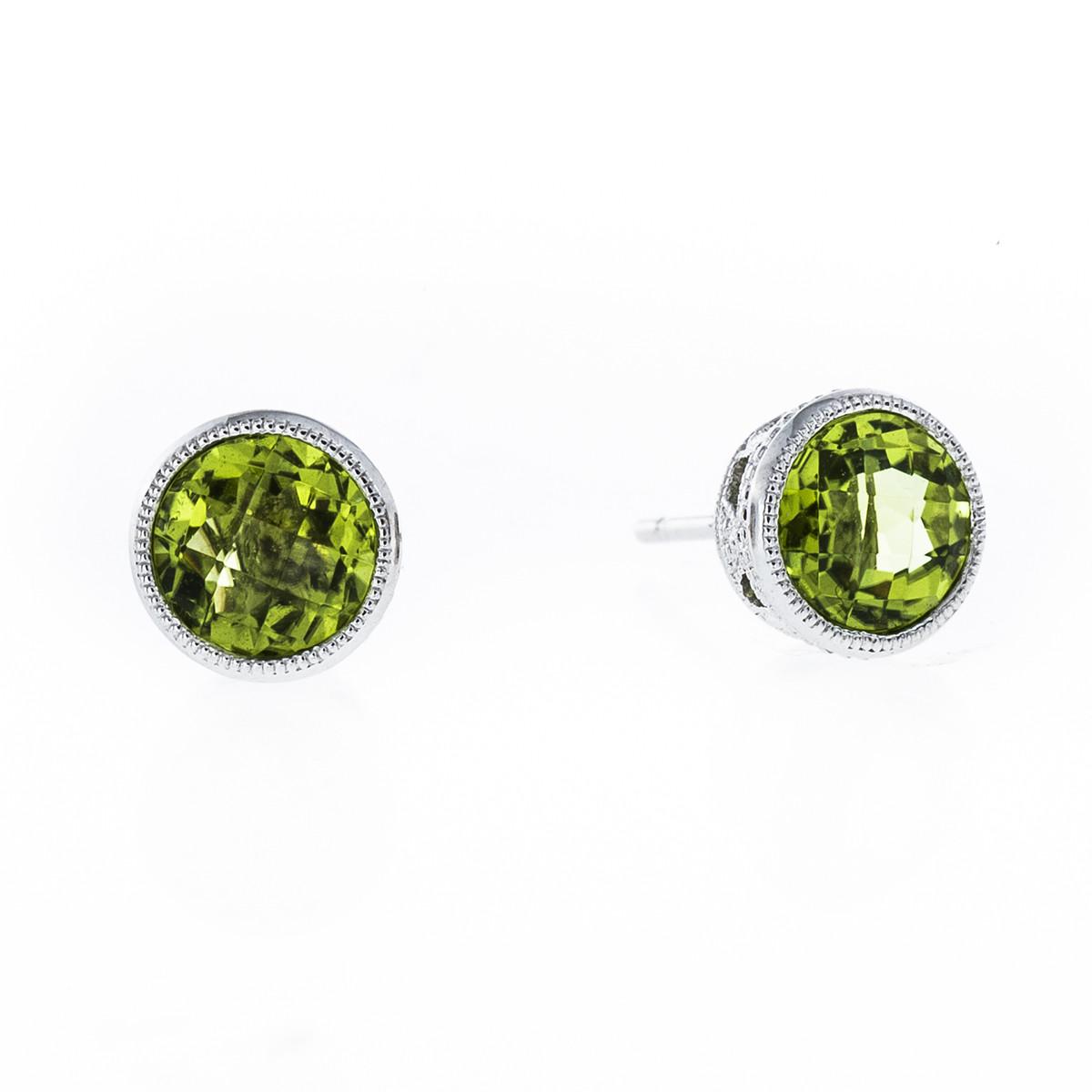 1.72 CTW Peridot Earrings