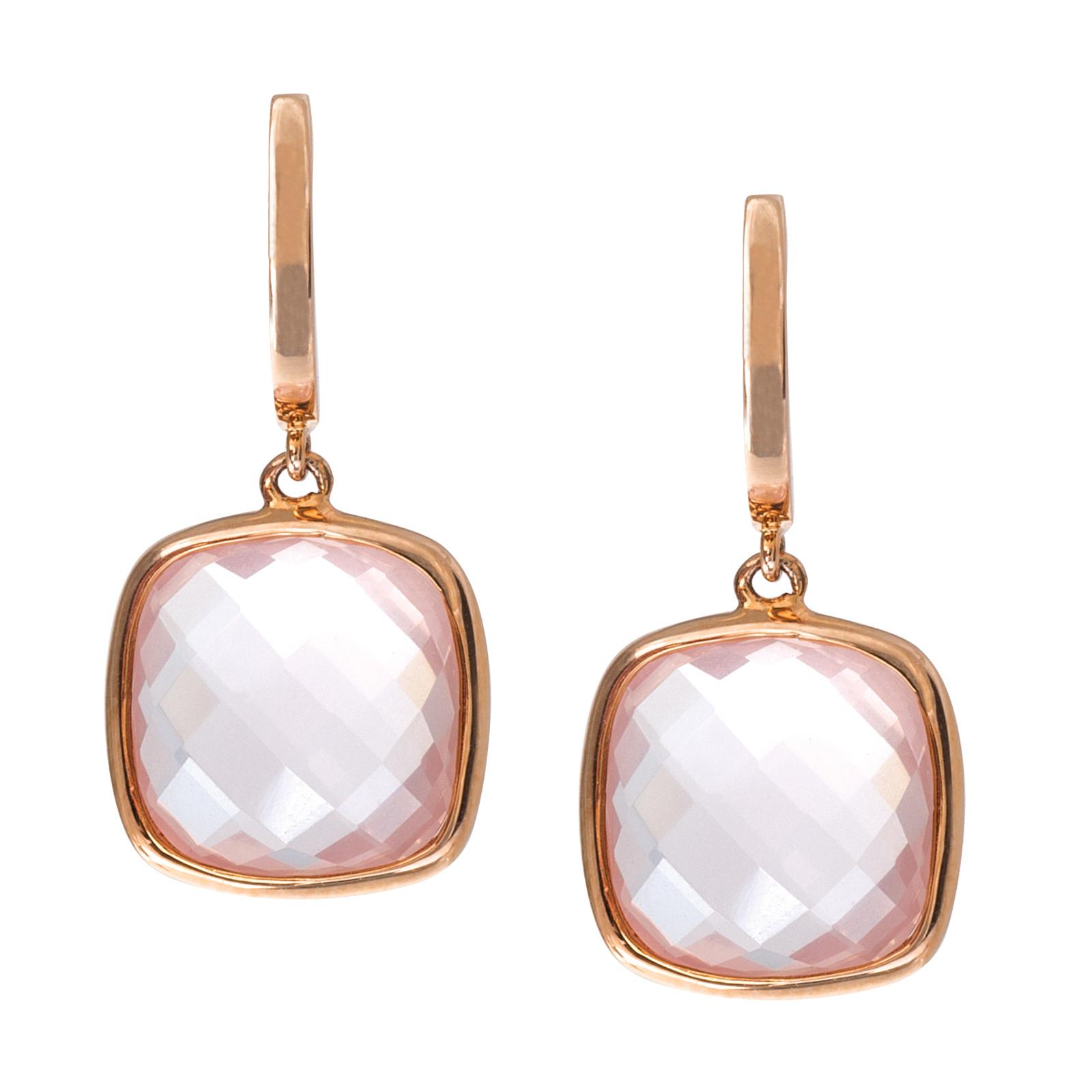 9.54 CTW Rose Quartz Earrings