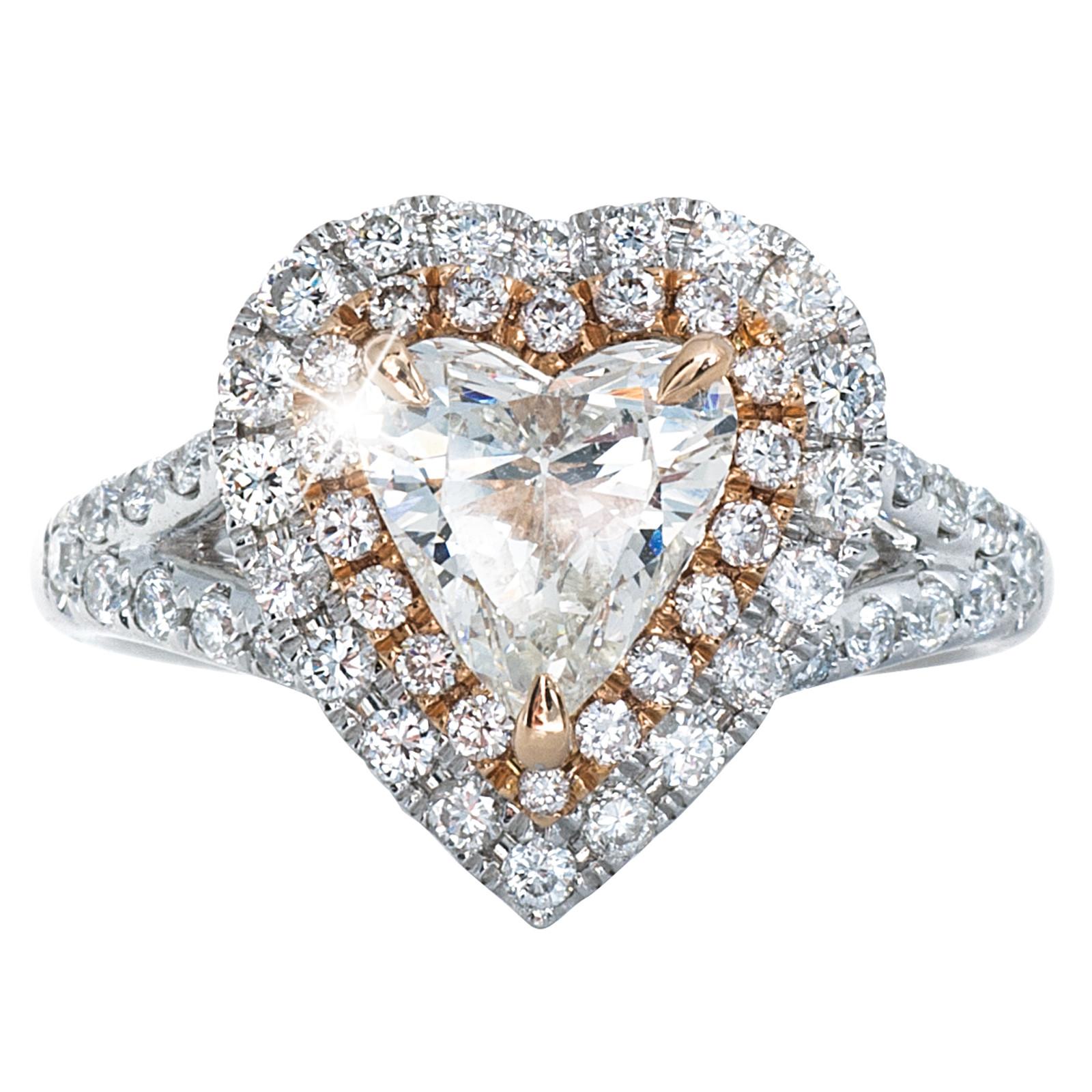 1.95 CTW Diamond Hearts Engagement Ring