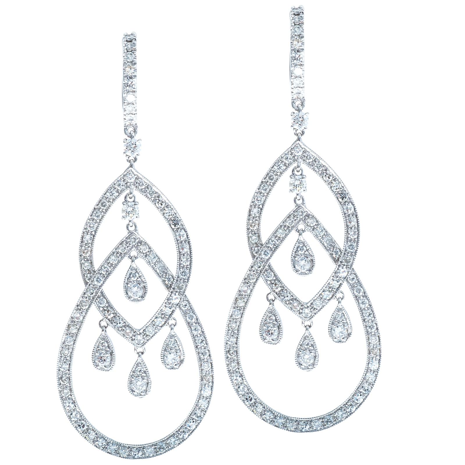 2.10 CTW Diamond Earrings