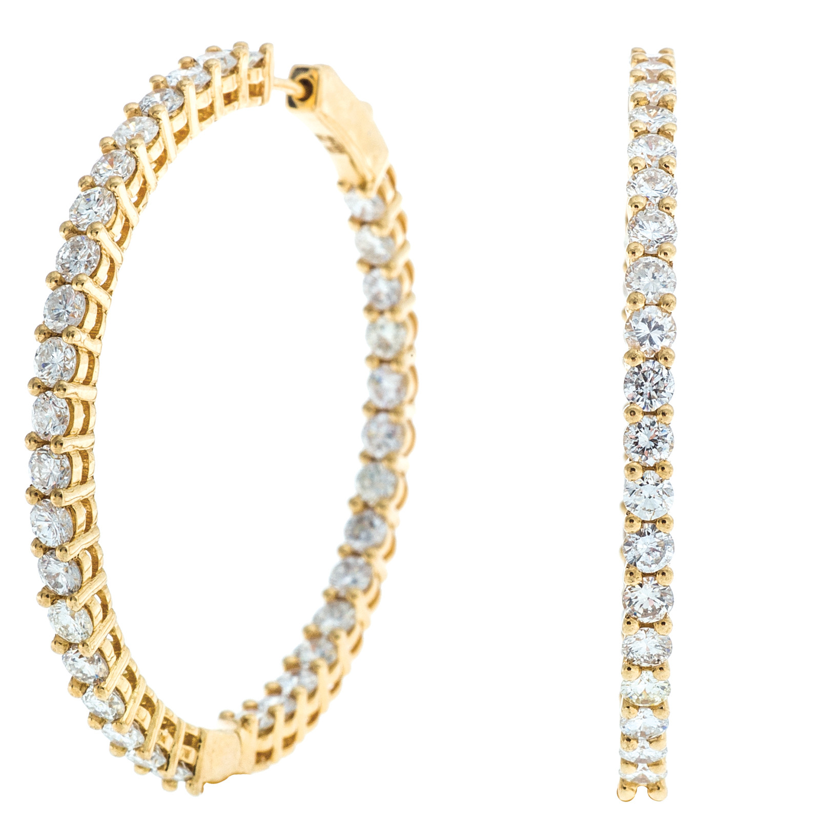 4.47 CTW Diamond Hoops