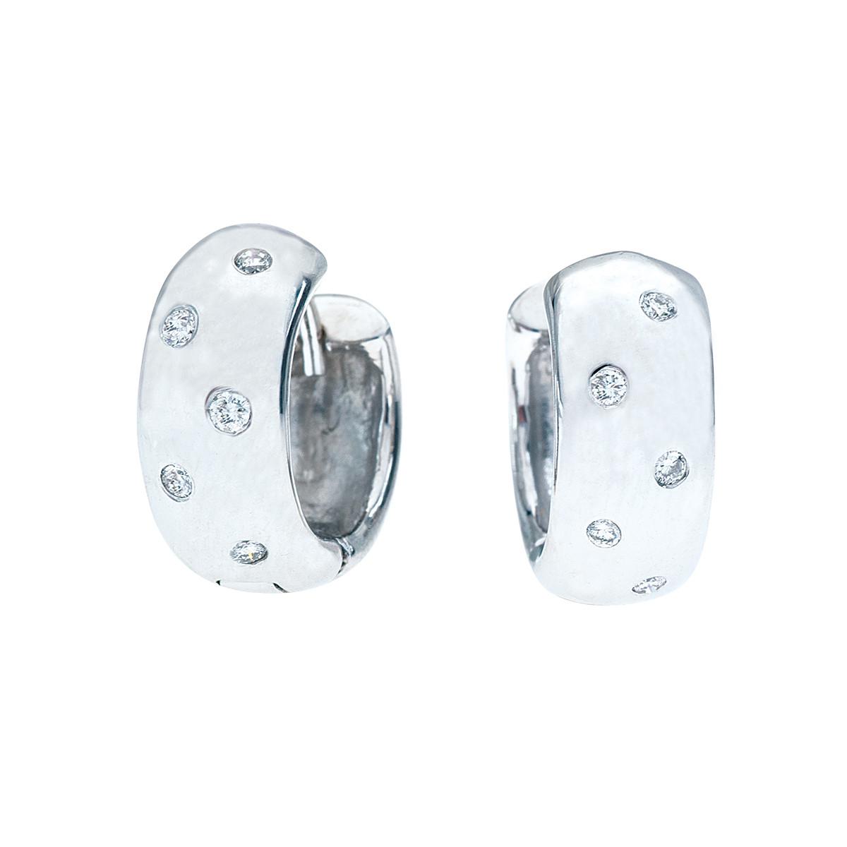 Vintage 0.10 Diamond Huggie Earrings