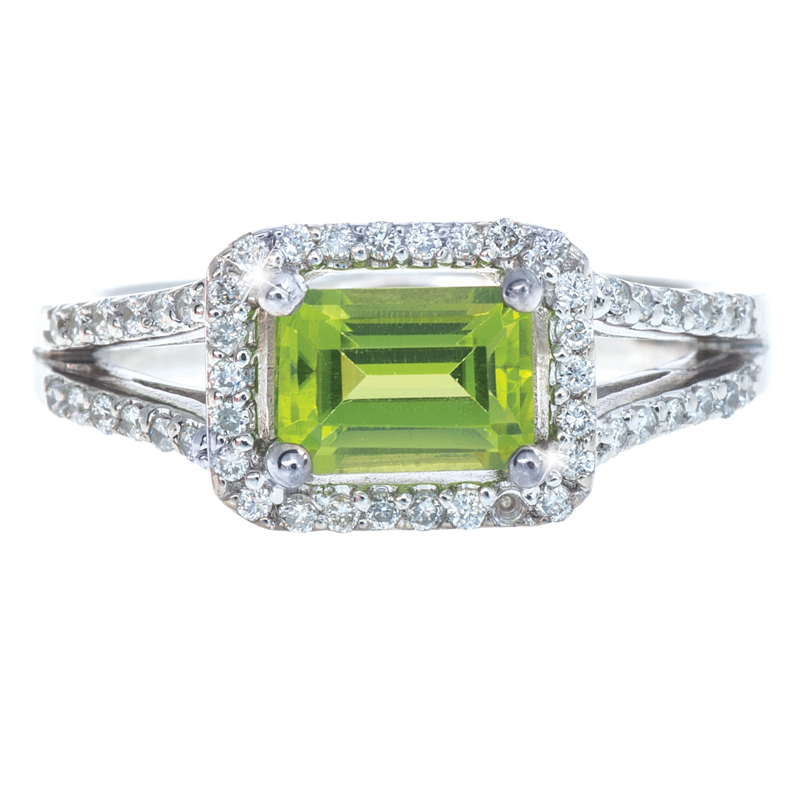 Vintage 1.36 CTW Peridot & Diamond Ring