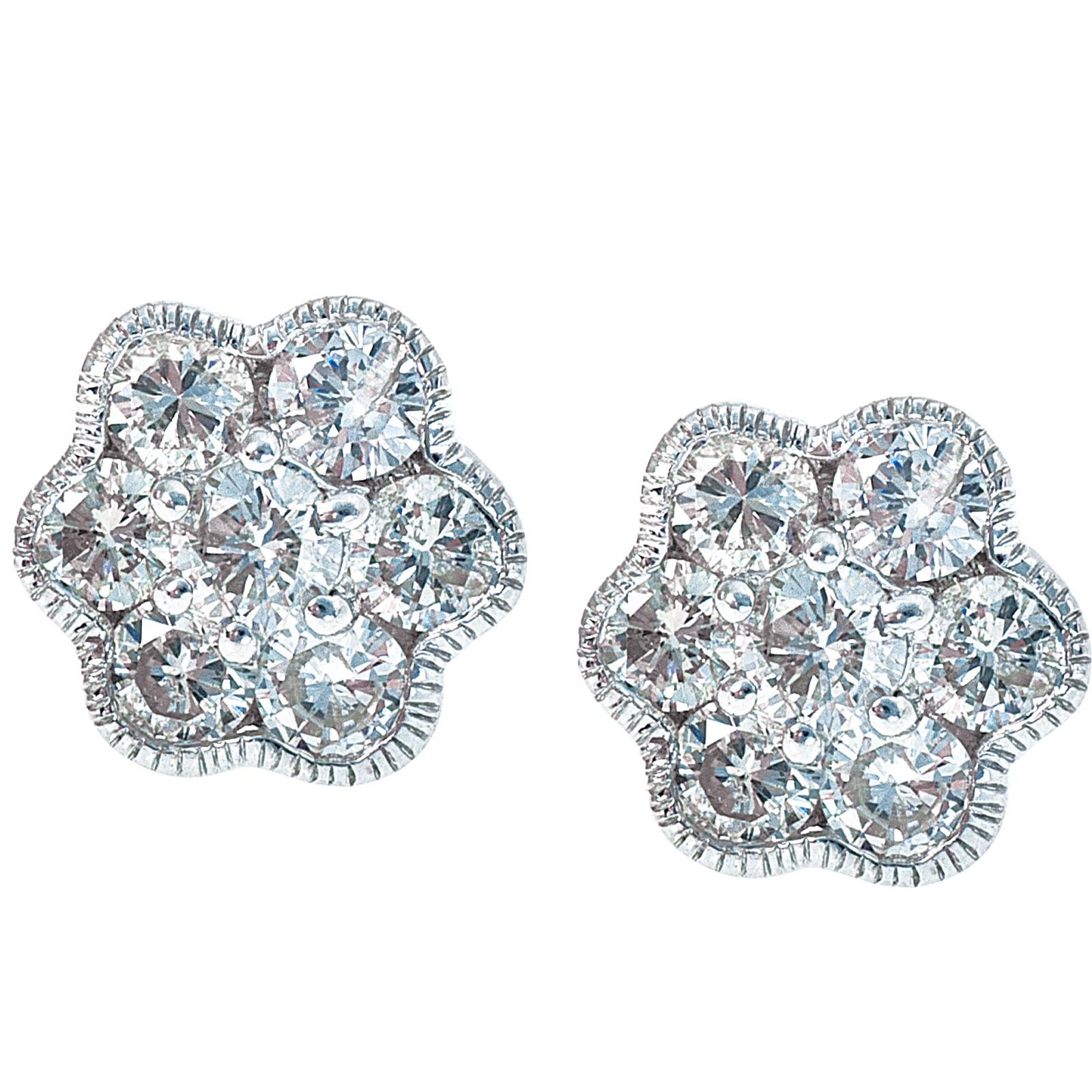Vintage 1.26 CTW Diamond Stud Earrings