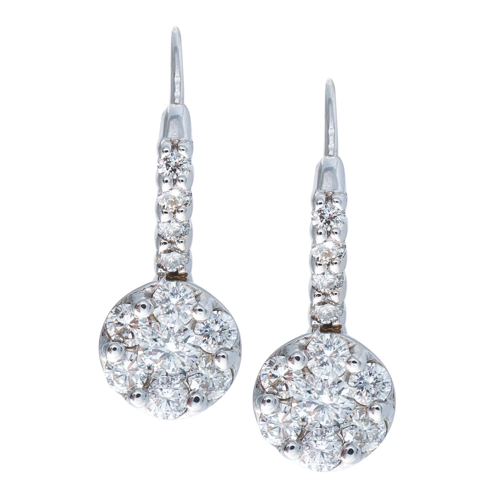 Vintage 0.94 CTW Diamond Earrings