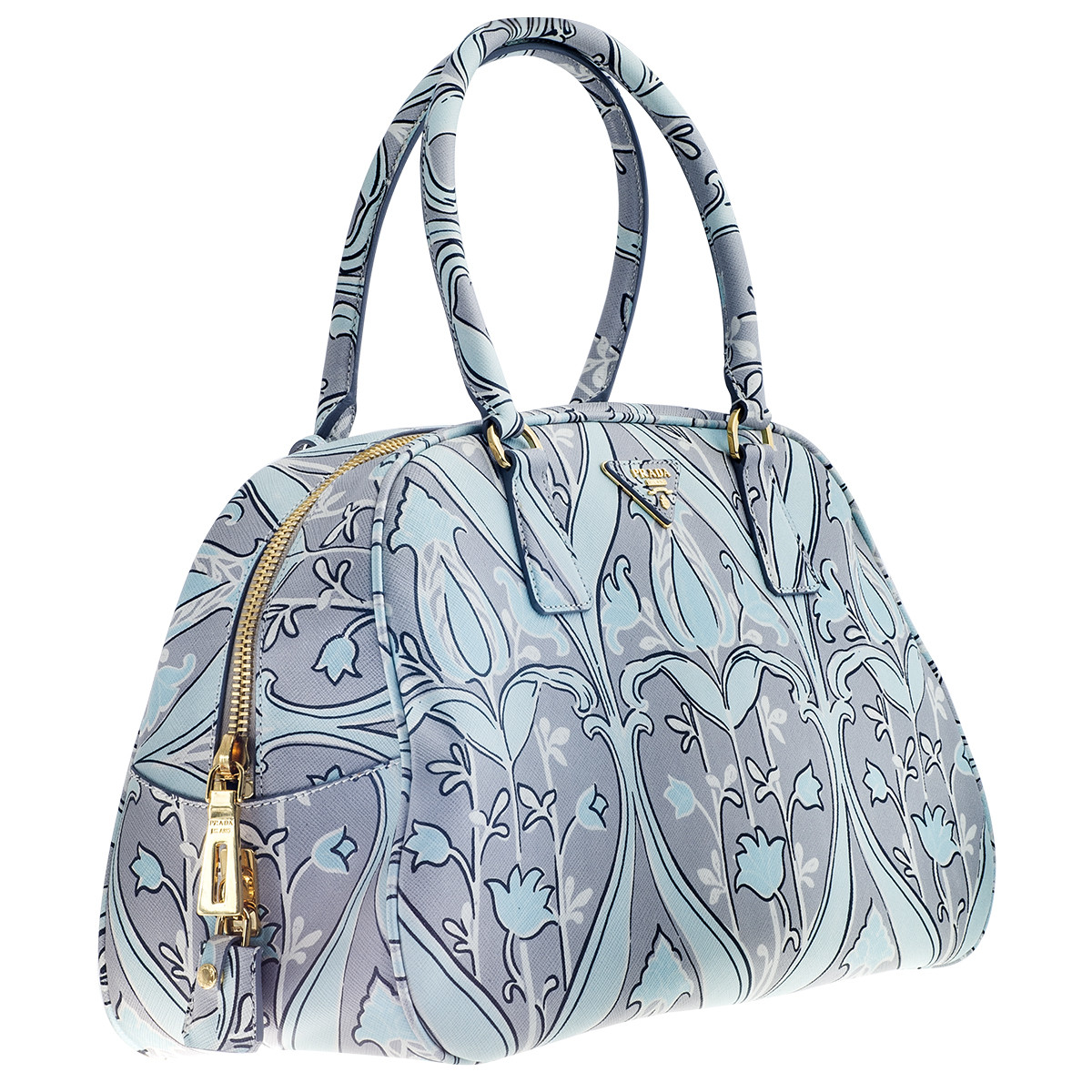 Vintage Prada Handbag with Saffiano Anis Floral Print