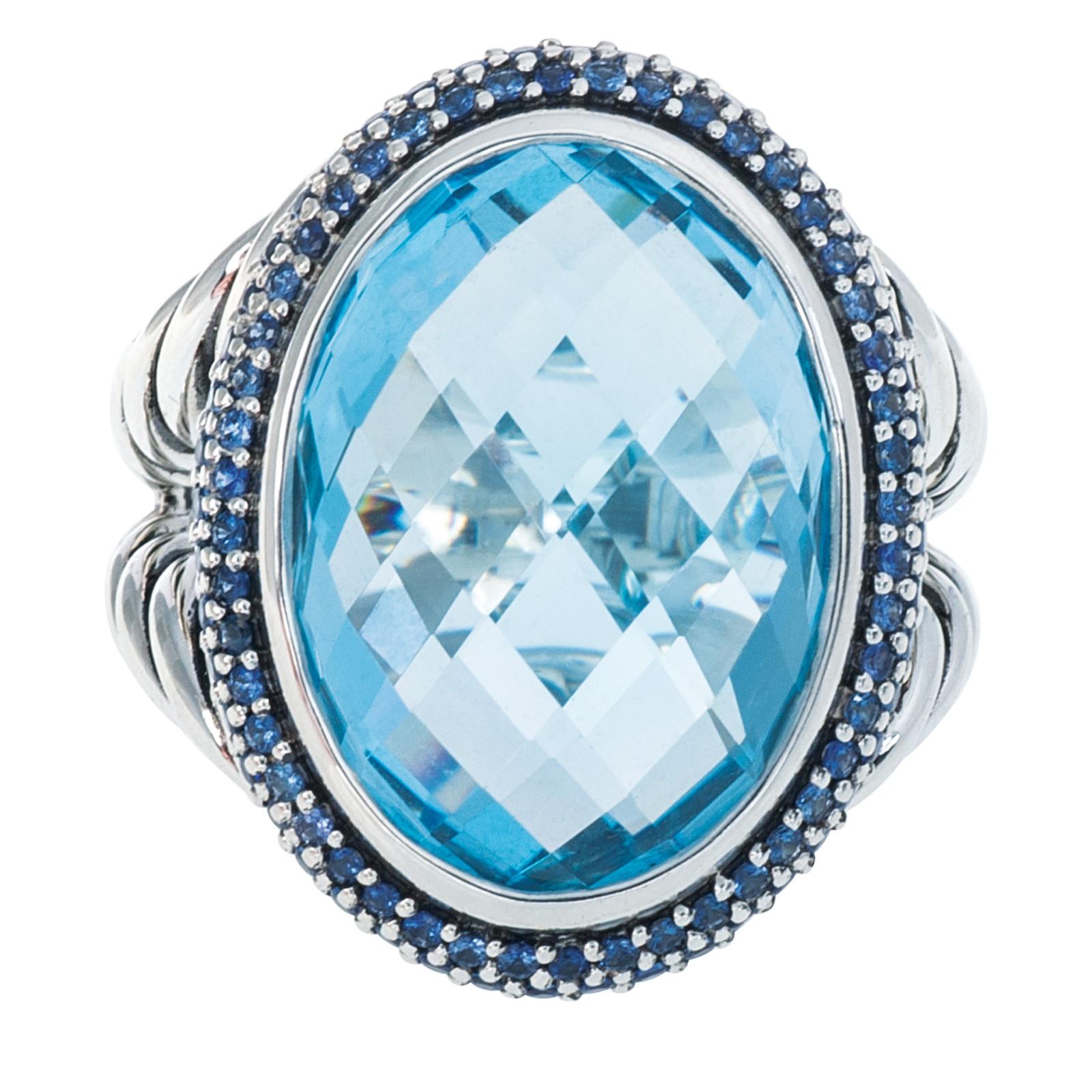 Viintage David Yurman Topaz & 1.14 CTW Sapphire Ring