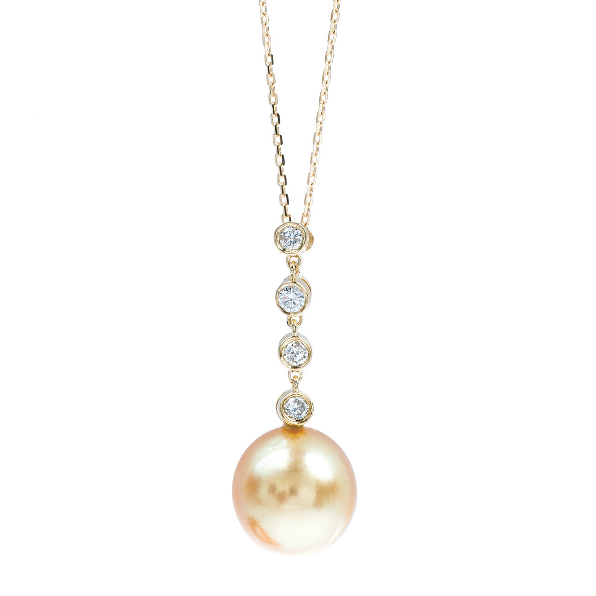 Vintage South Pearl & Diamond Necklace