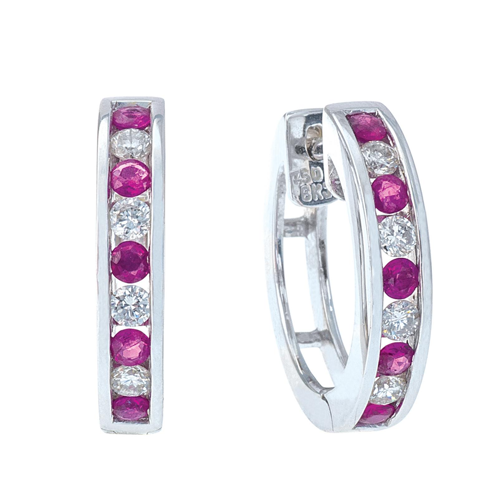 Vintage 0.80 CTW Diamond & Ruby Earrings
