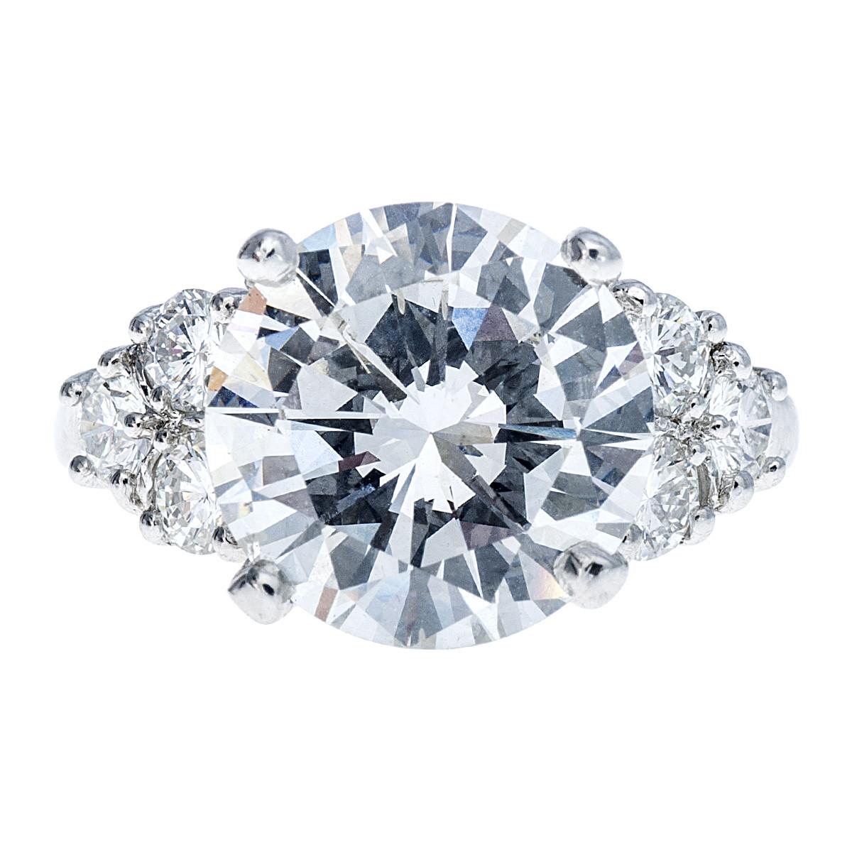 Vintage Platinum 4.96 CTW Diamond Engagement Ring