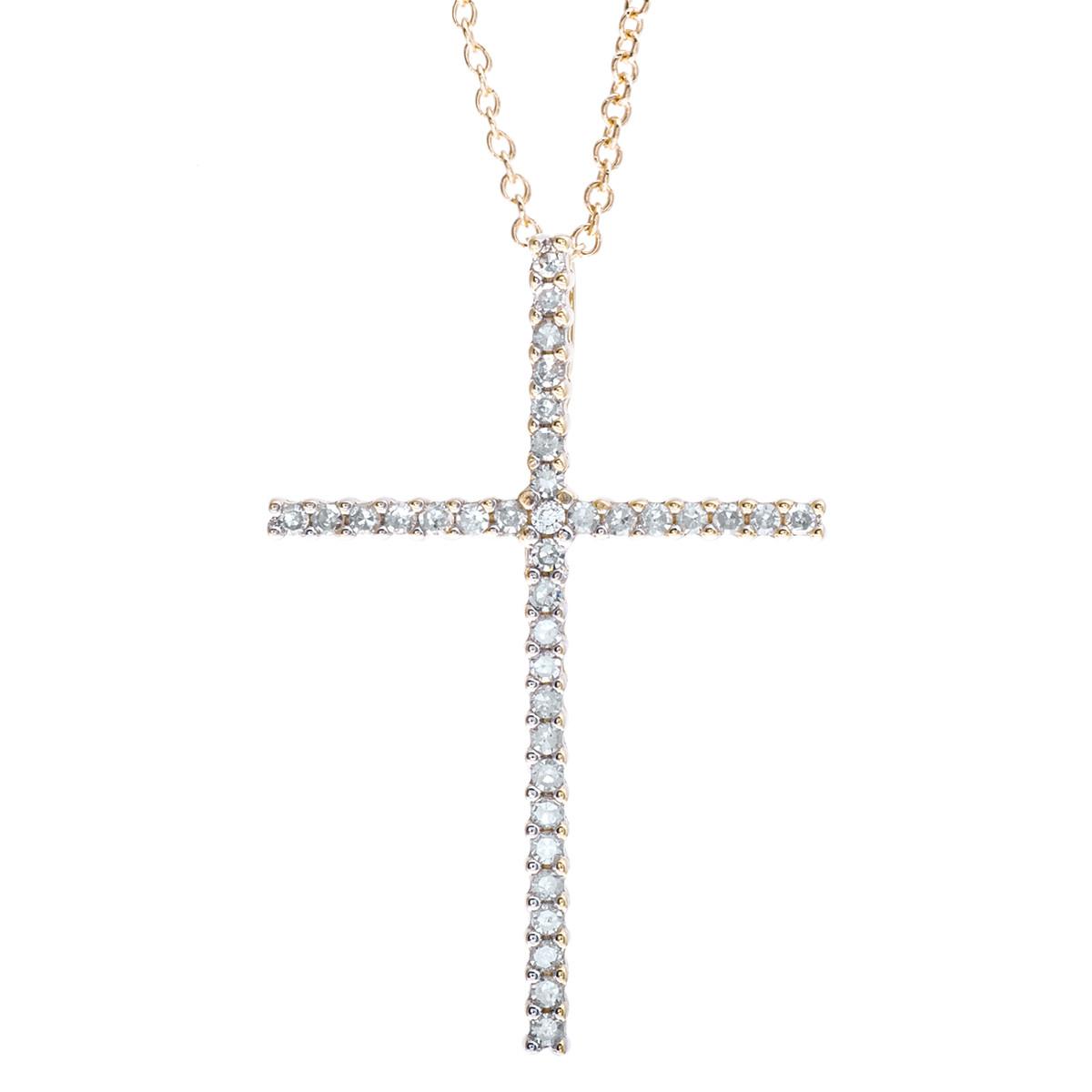 Vintage 0.18 CTW Diamond Cross Pendant