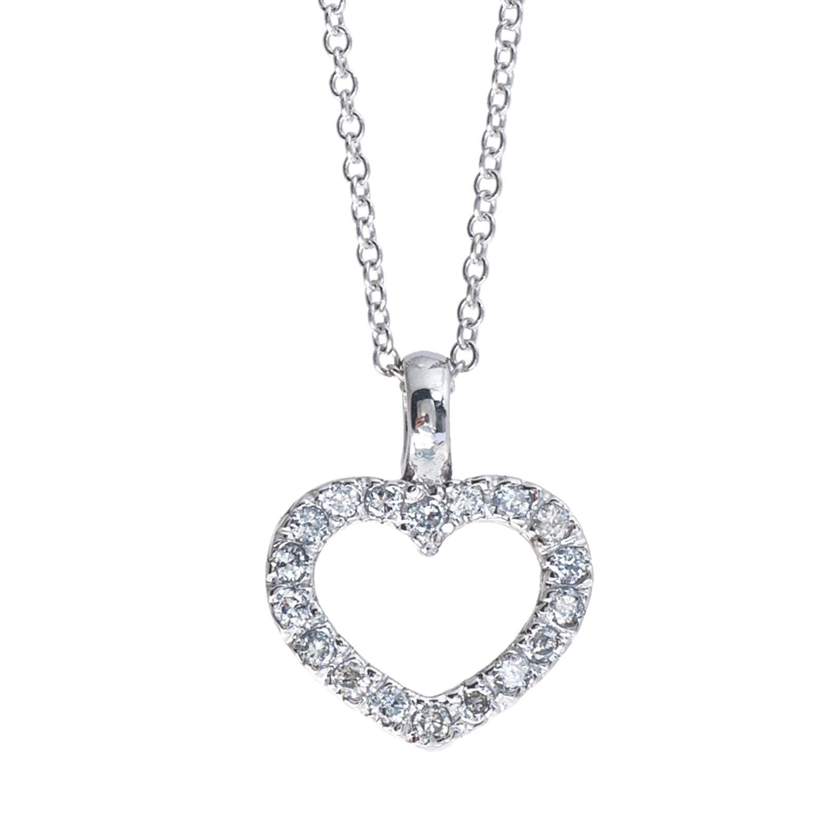 Vintage Diamond Heart Pendant