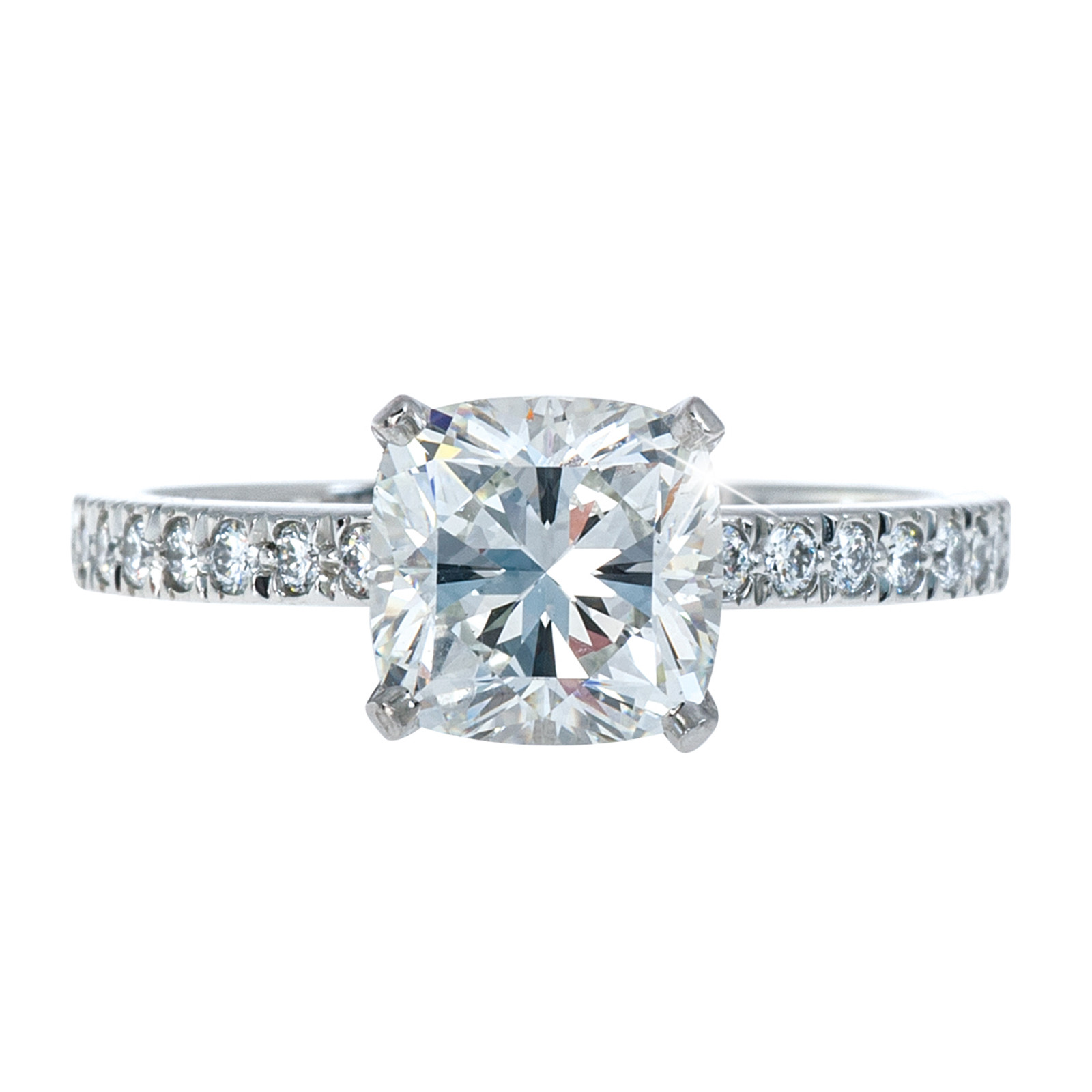 engagement white view ring verona diamond cut cushion rings