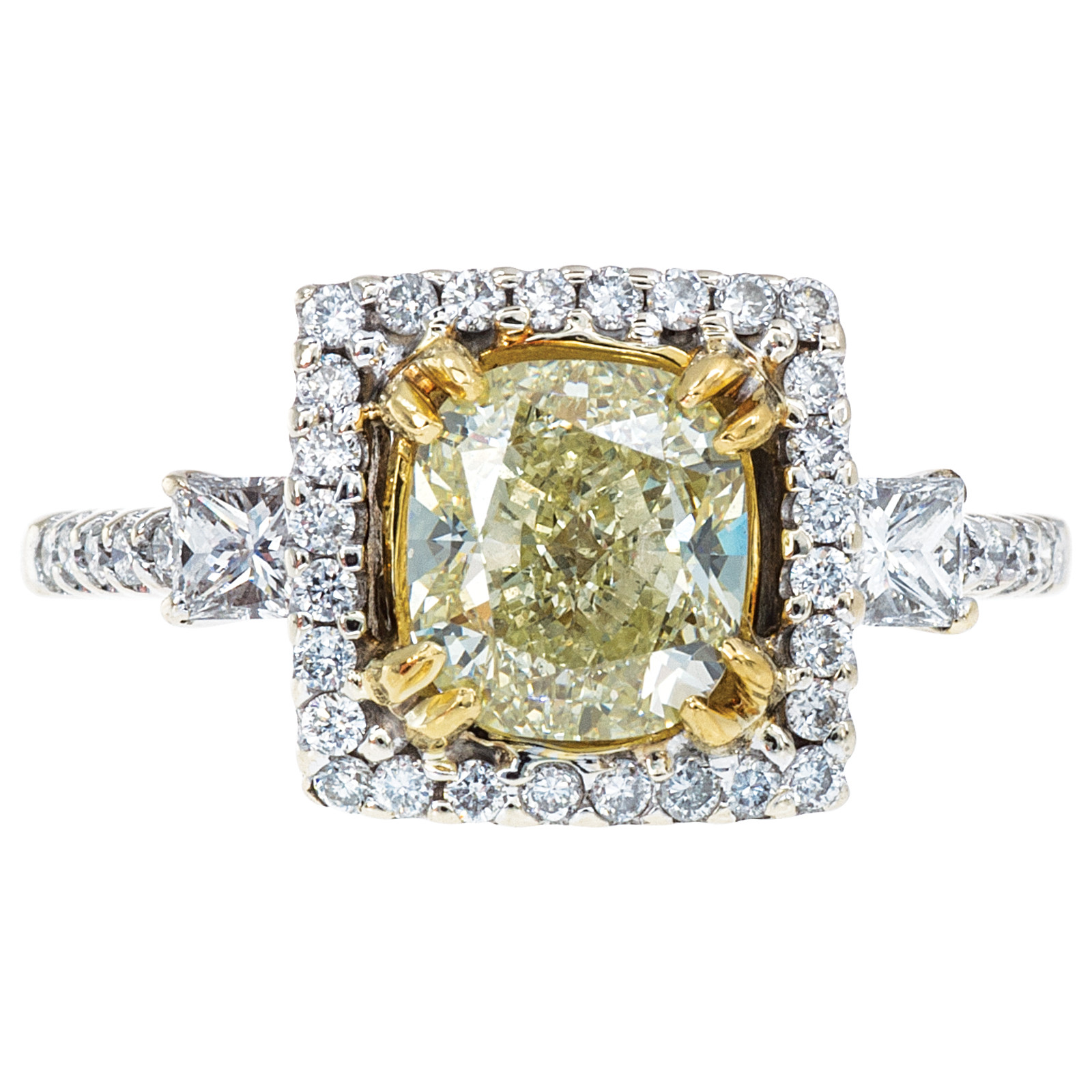 Vintage 1.81 CTW Fancy Yellow Diamond Engagement Ring