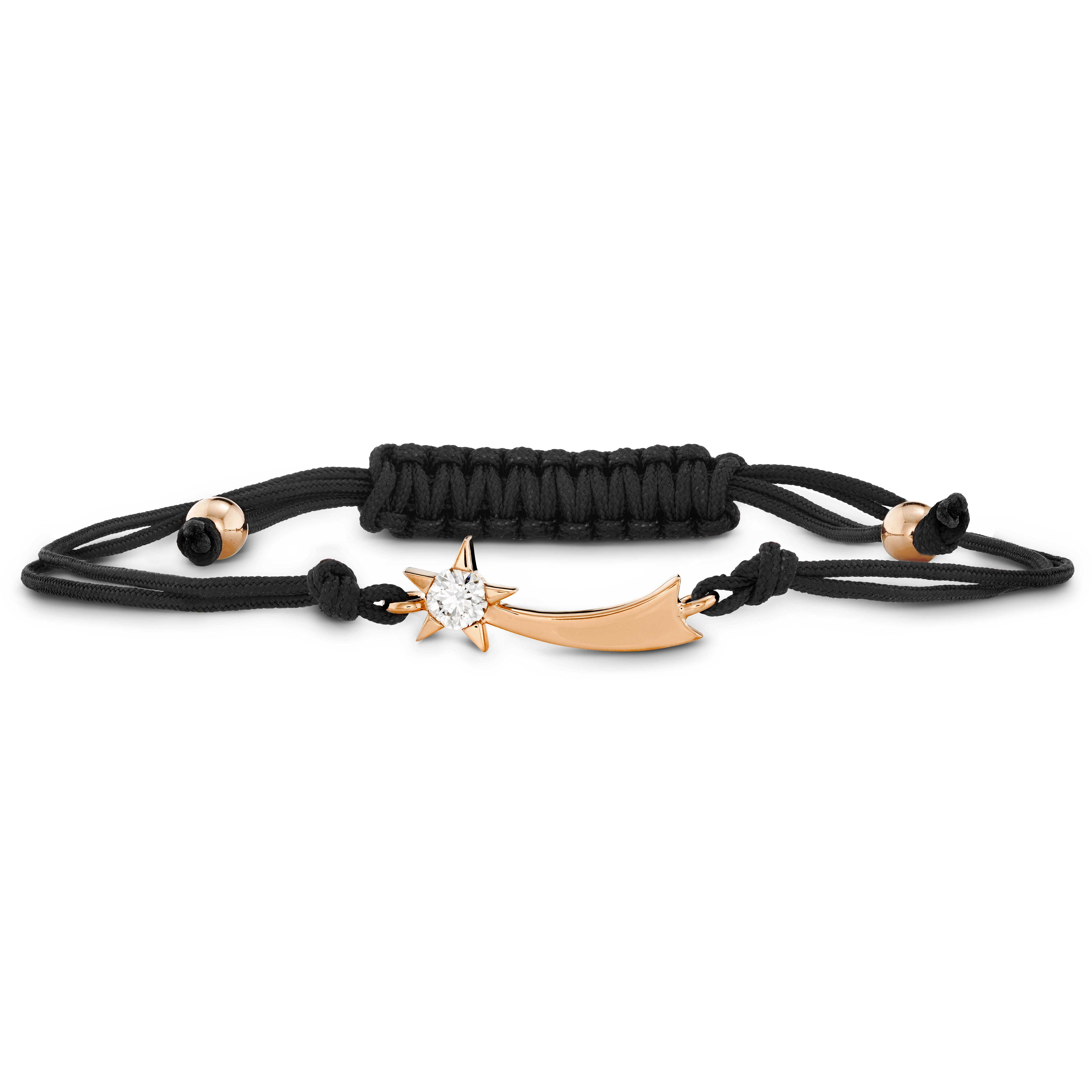 New Hearts On Fire® 0.13 CT Diamond Illa Comet Black Cord Bracelet