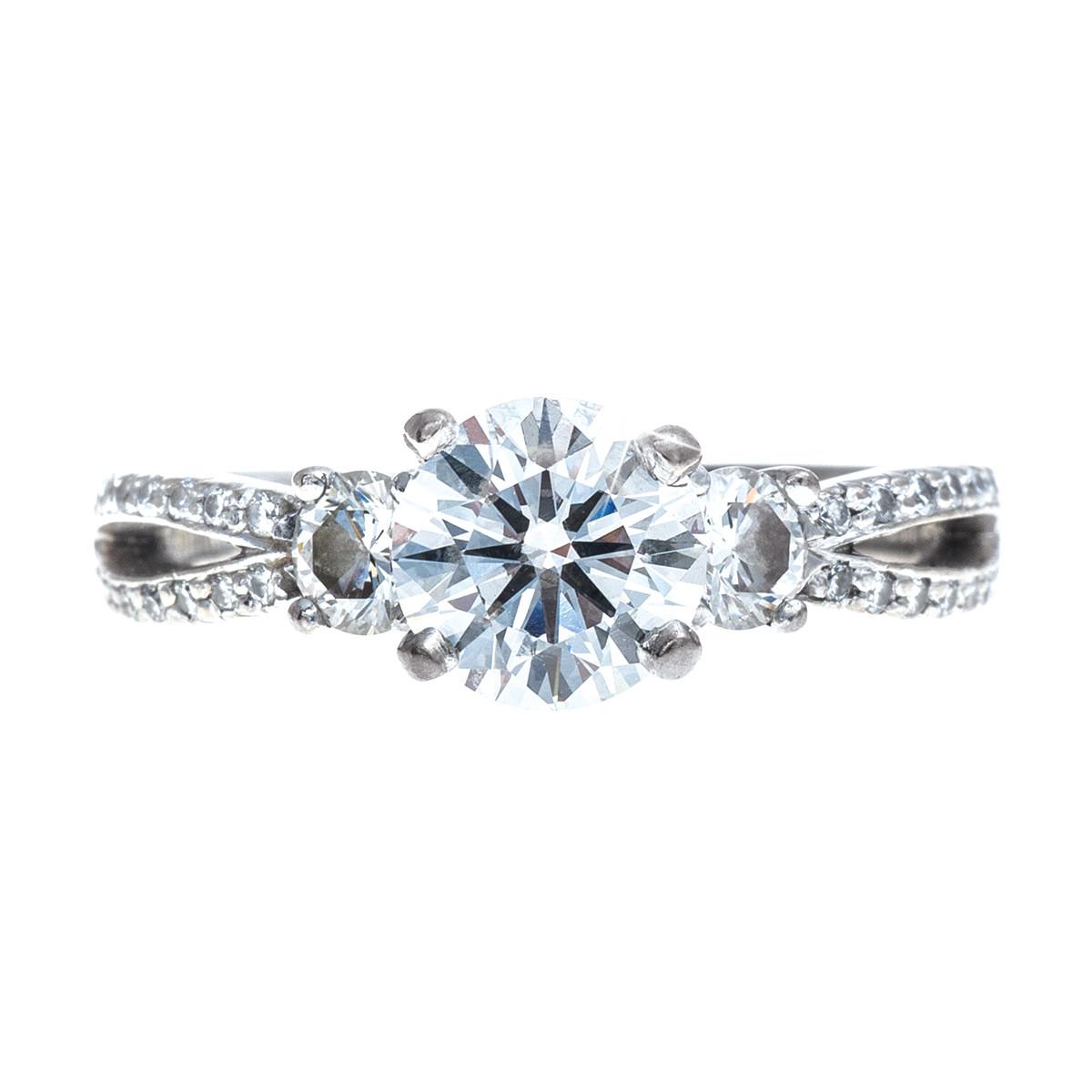 Vintage Scott Kay 1.86 CTW Diamond Engagement Ring