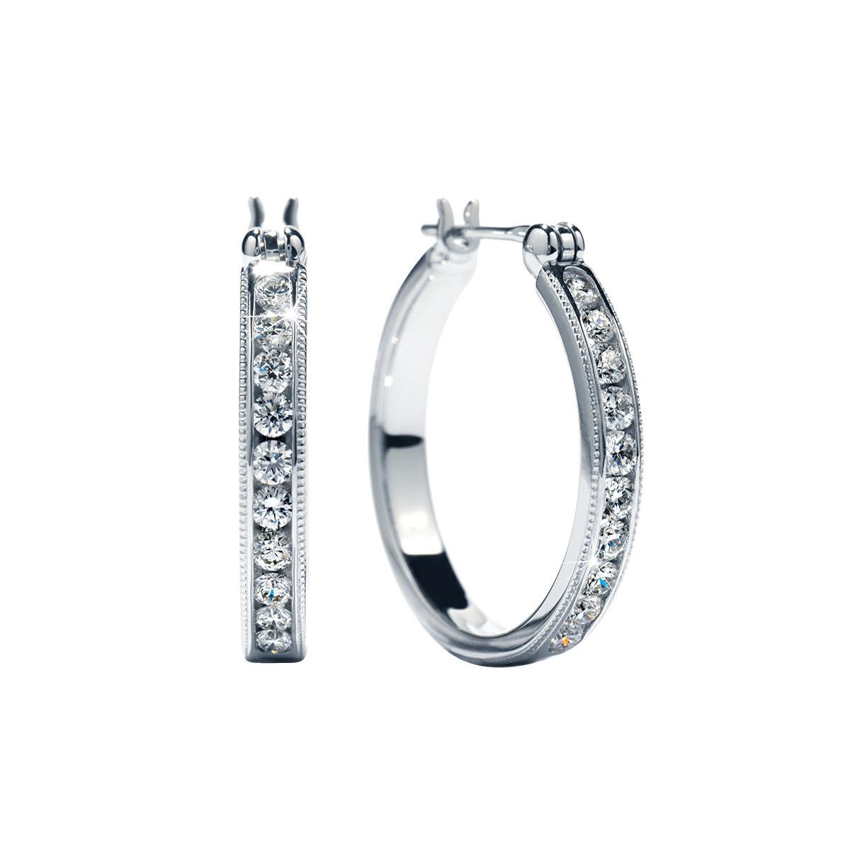 New Hearts On Fire® 0.42 CTW Diamond Eterne Hoop Earrings