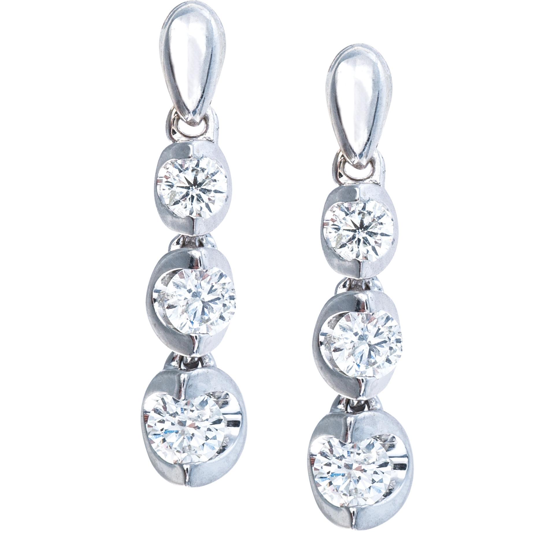 Vintage 0.50 CTW Diamond Earrings