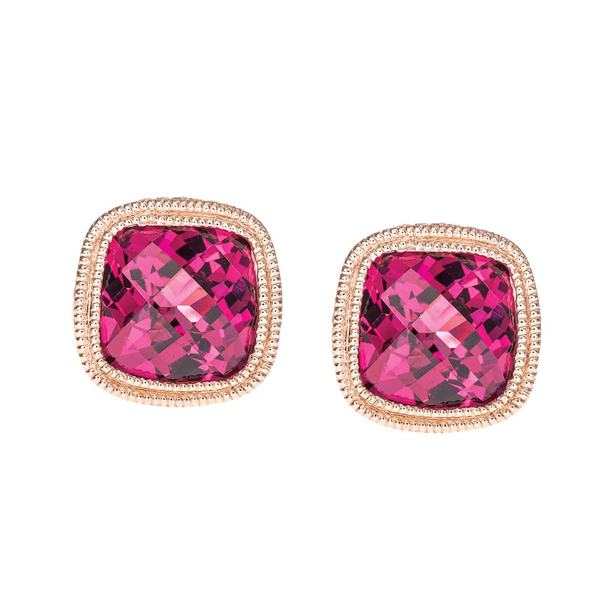 2.30 CTW Rhodolite Garnet Earrings