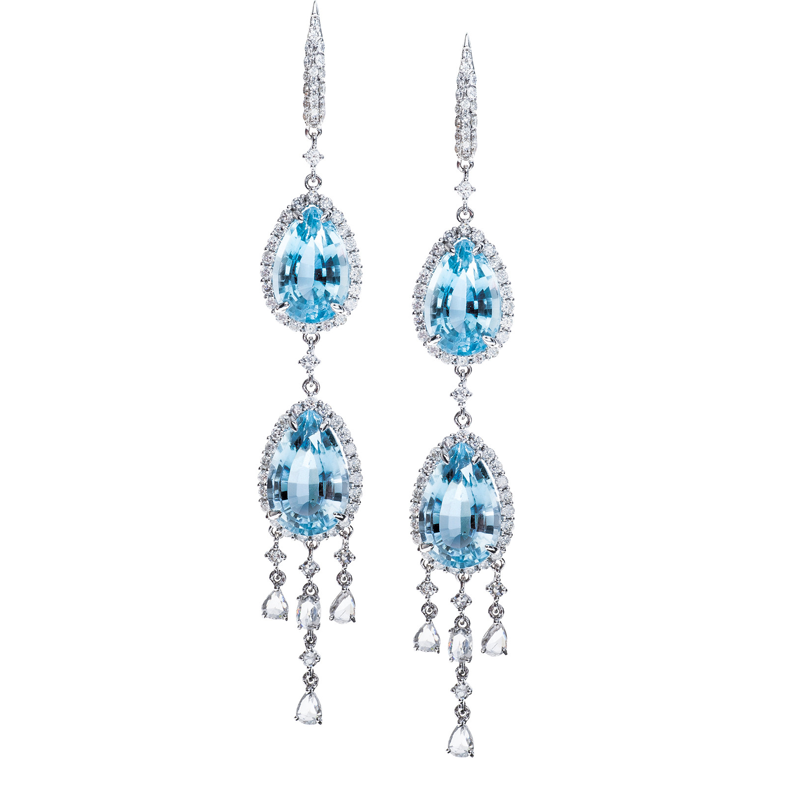 New 26.88 CTW Topaz & Diamond Earrings