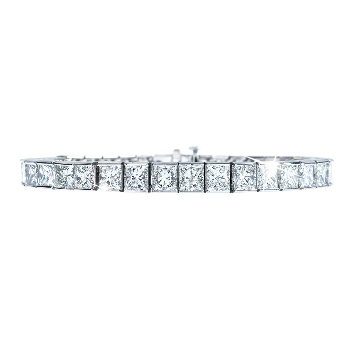 New 15.00 CTW Diamond Tennis Bracelet