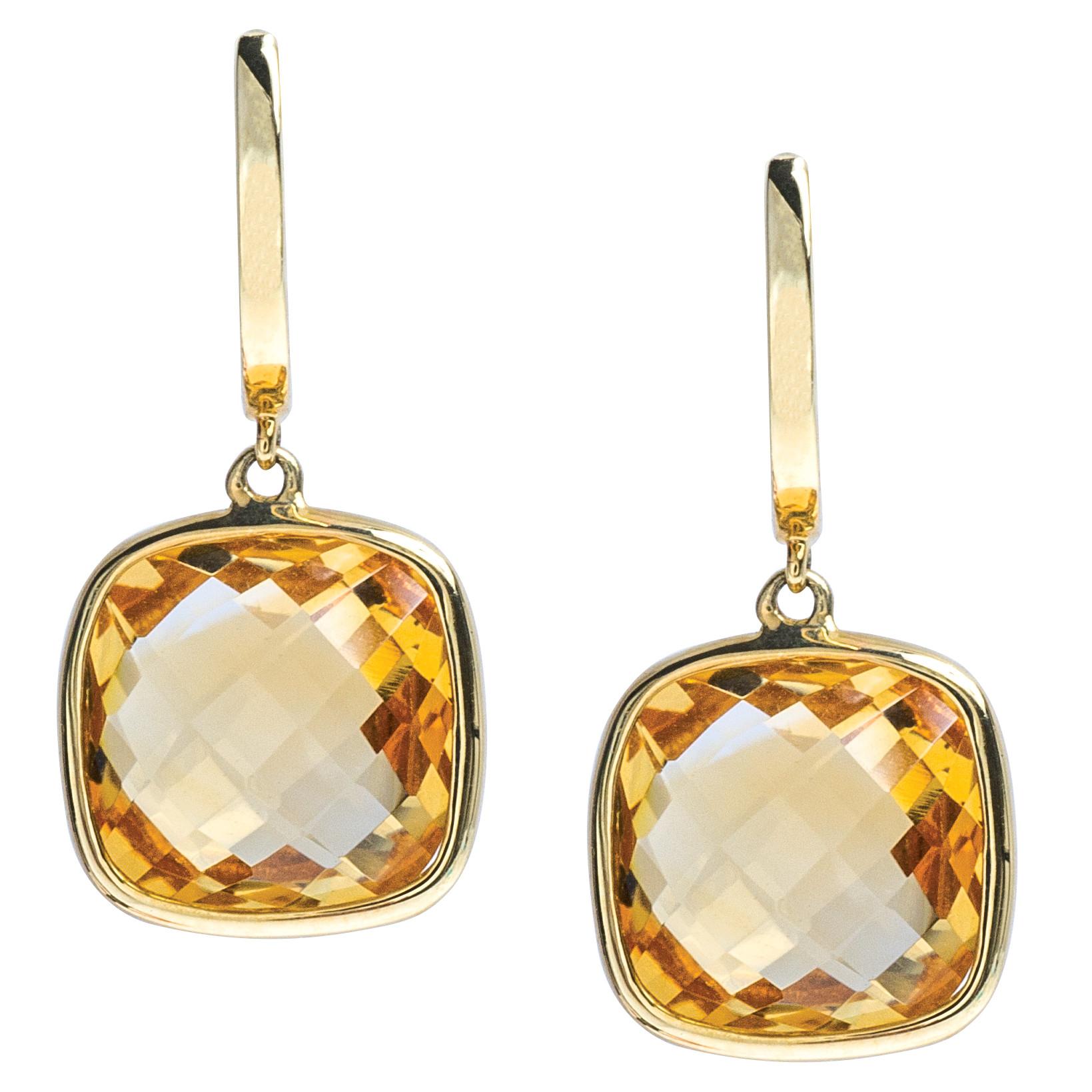 New 9.31 CTW Citrine Earrings