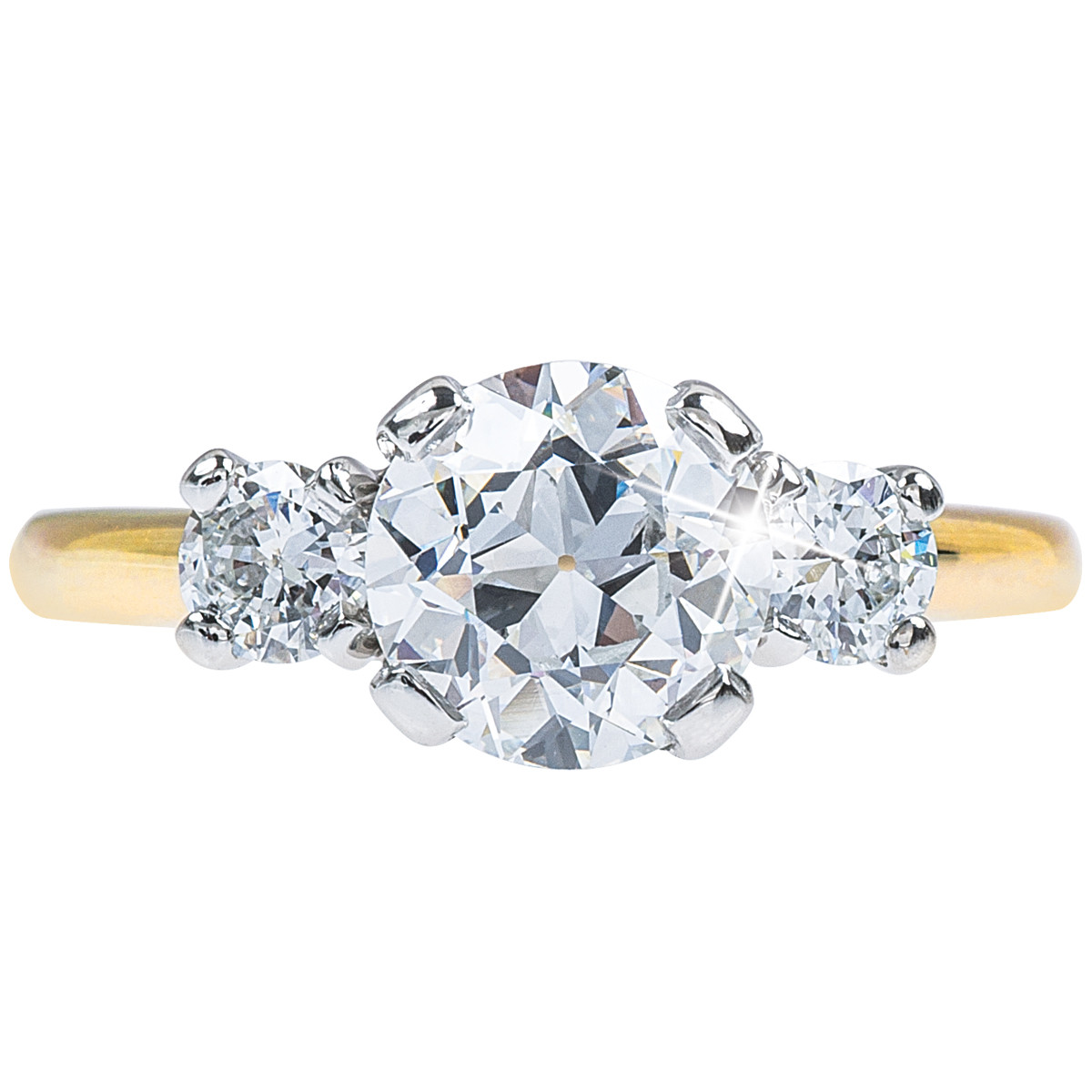Vintage 1.53 CTW Diamond Engagement Ring