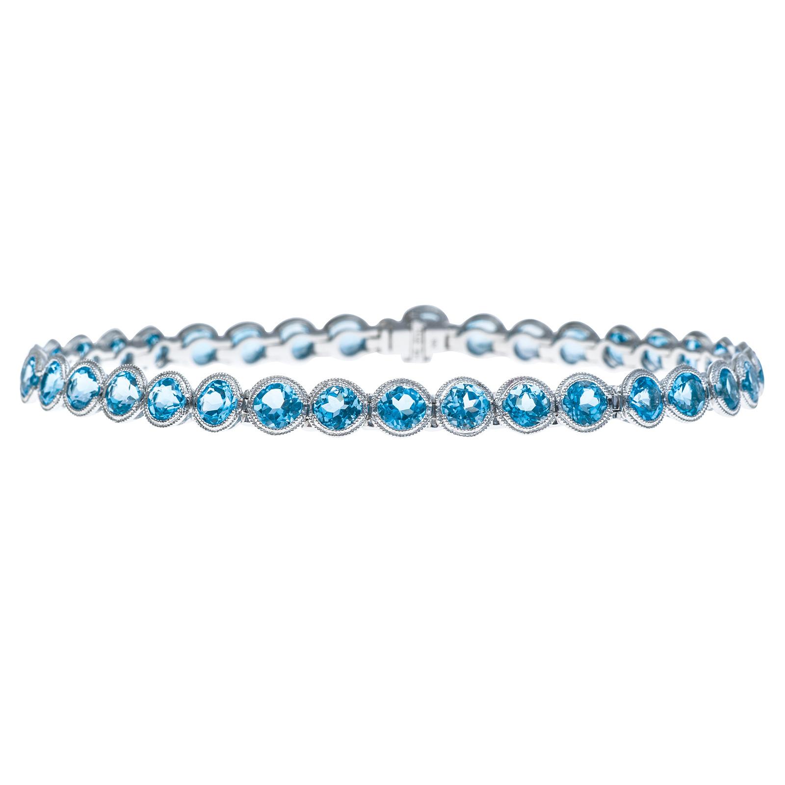 New 9.82 CTW Blue Topaz Bracelet