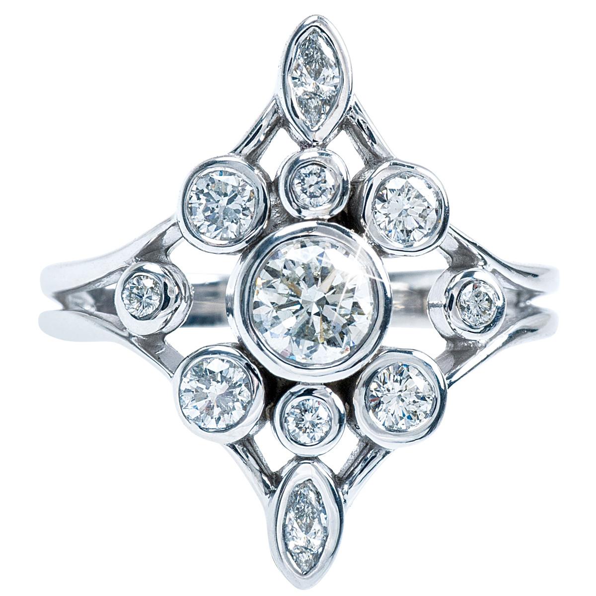 Vintage 1.00 CTW Diamond Ring