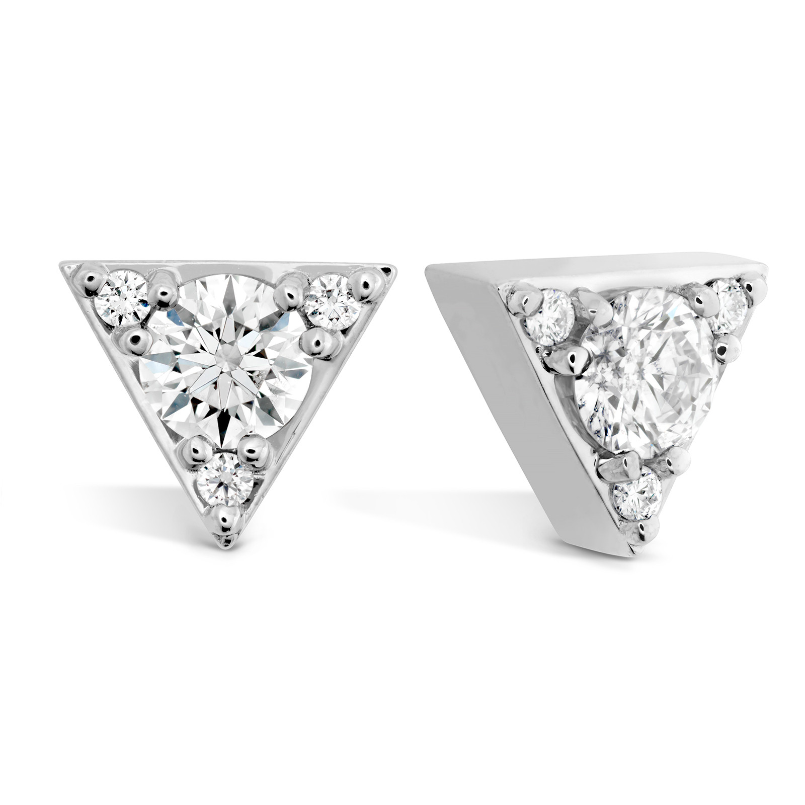 New Hearts On Fire® 0.31 CTW Diamond Triplicity Triangle Stud Earrings