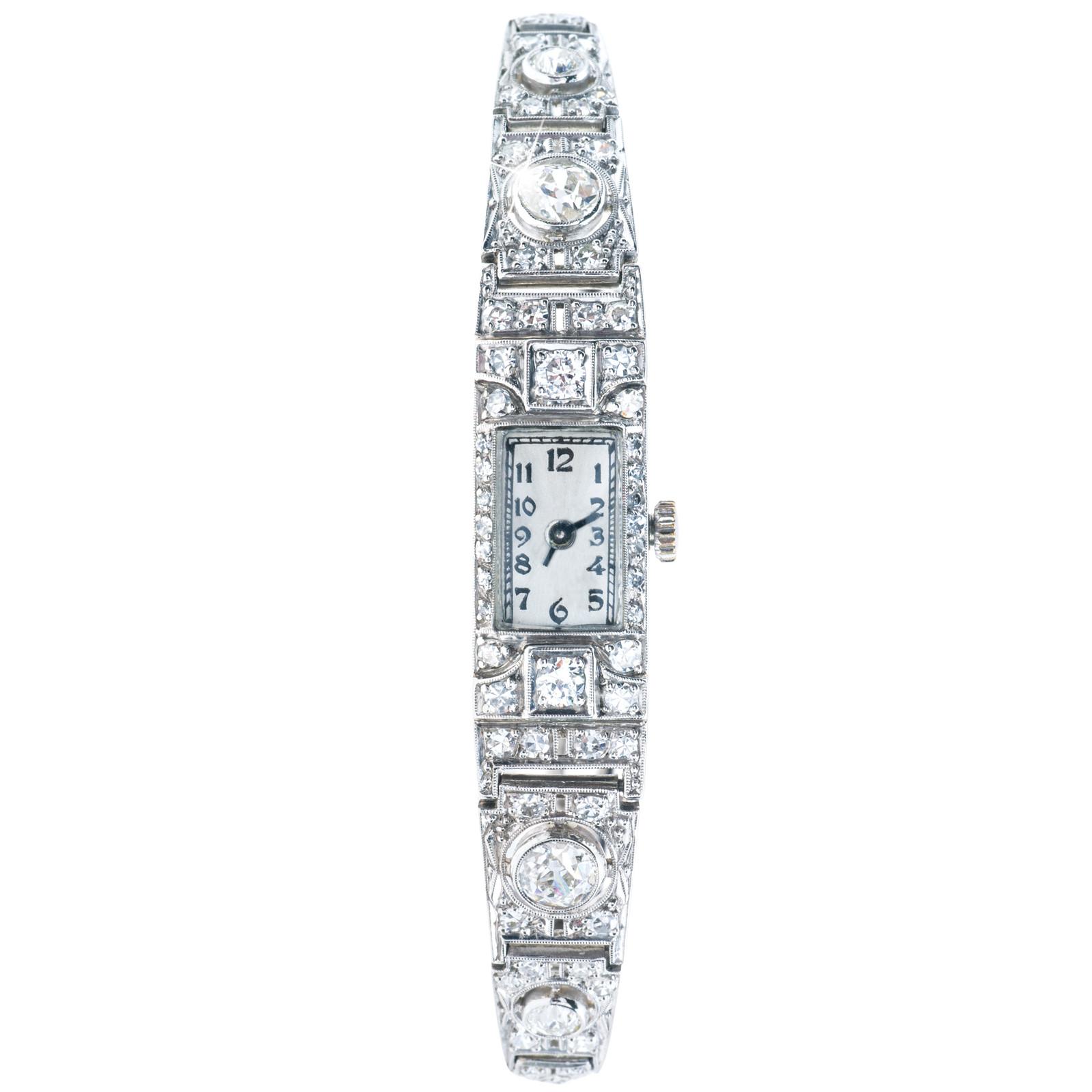 Antique Art Deco 2.00 CTW Diamond Watch