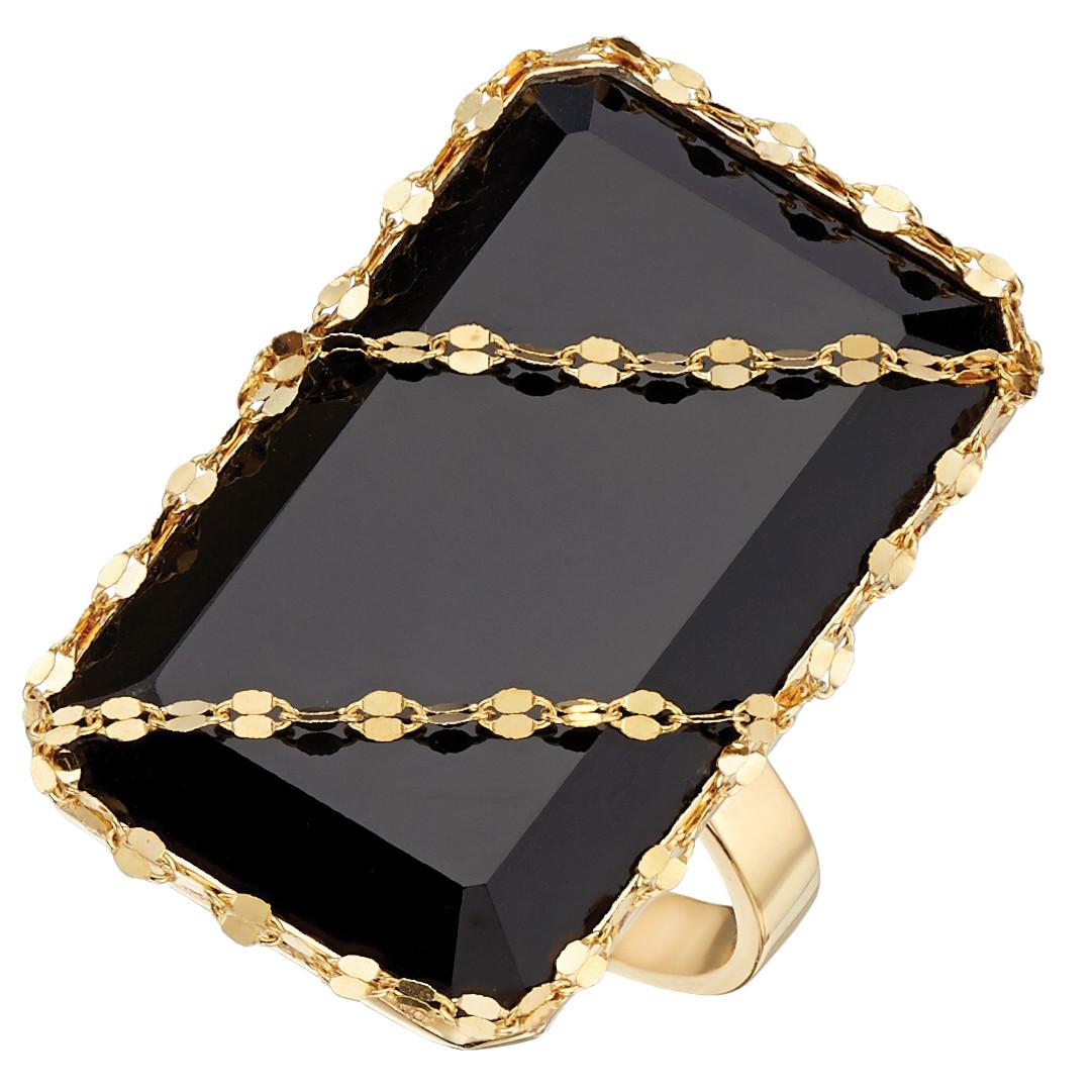 Lana Jewelry Noir Black Onyx Ring