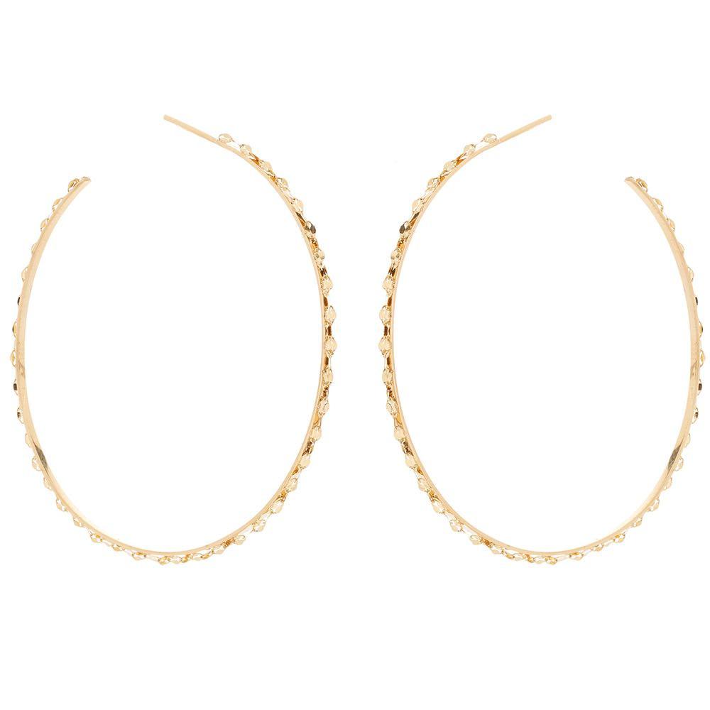 New Lana Glam Sunrise Hoop Earrings