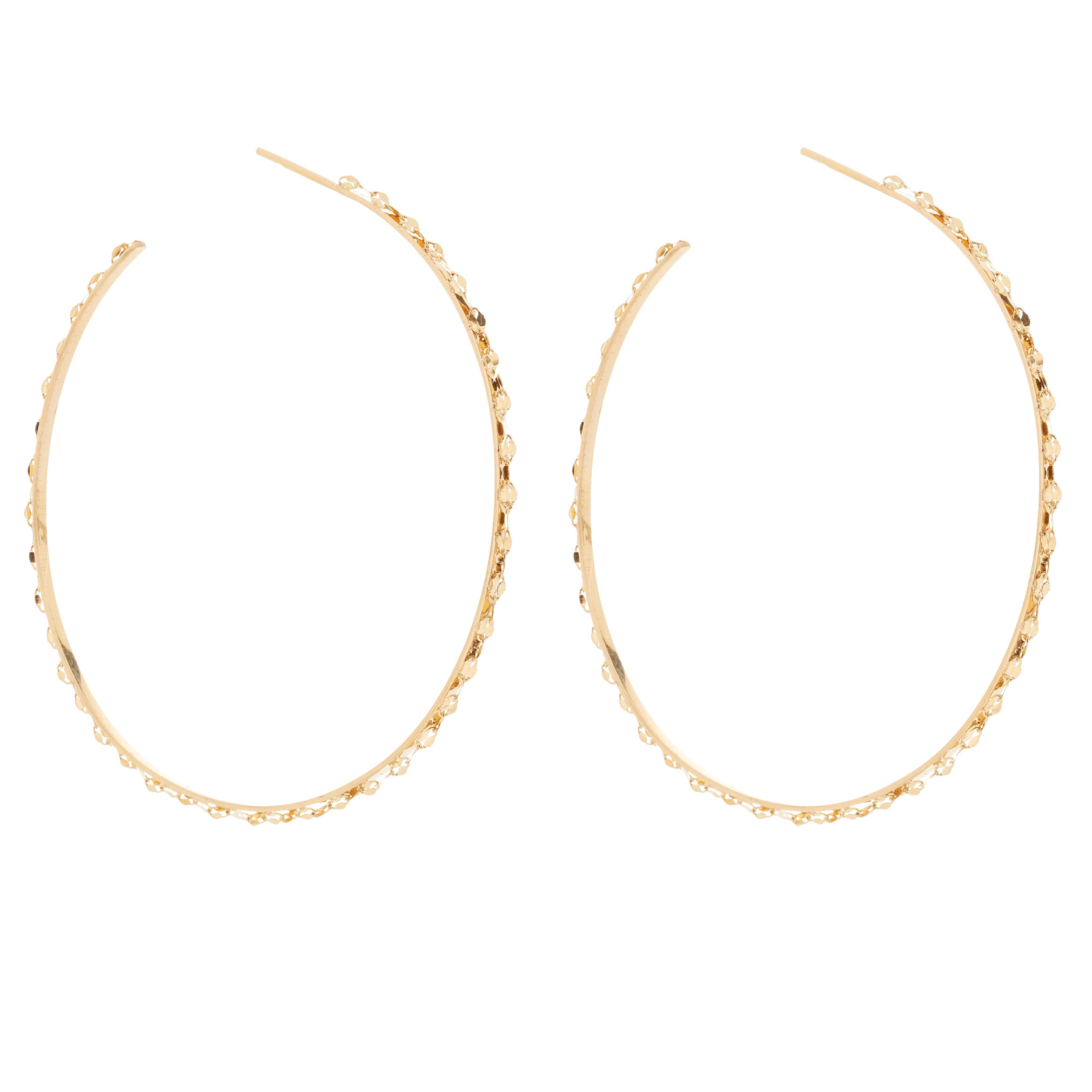 New Lana Jewelry Glam Sunrise Hoops Gallery Image