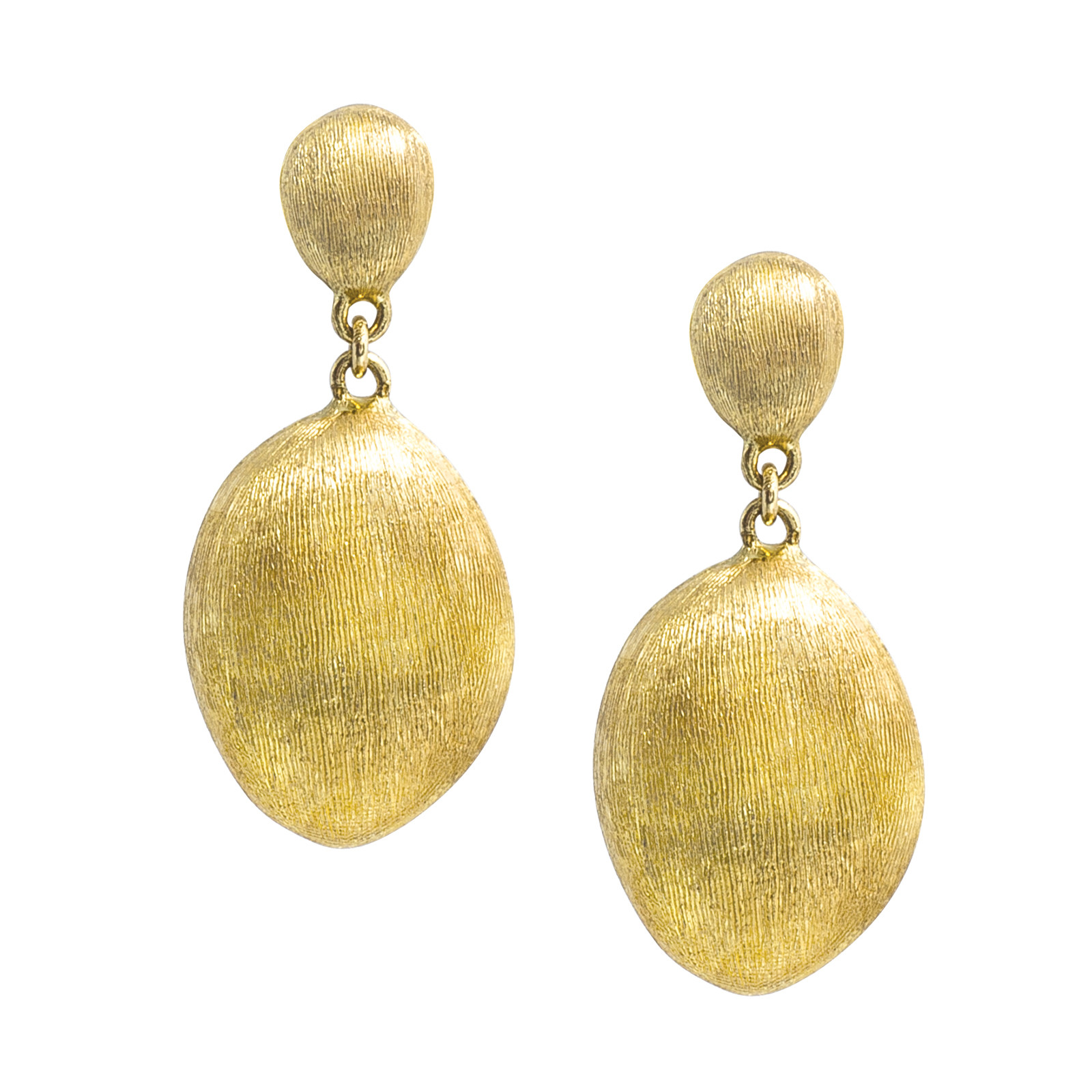 Vintage Marco Bicego Confetti Oro Brushed Gold Bean Earrings