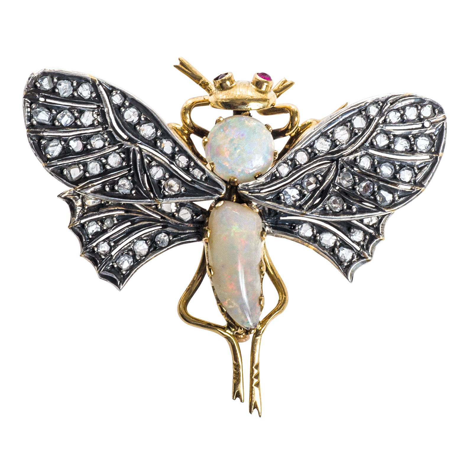 Vintage 1.00 CTW Diamond Dragonfly Brooch