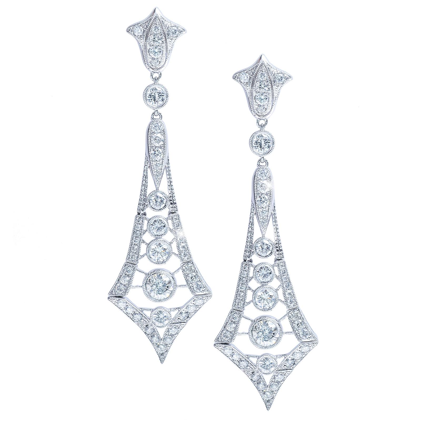 New 4.18 CTW Diamond Drop Earrings