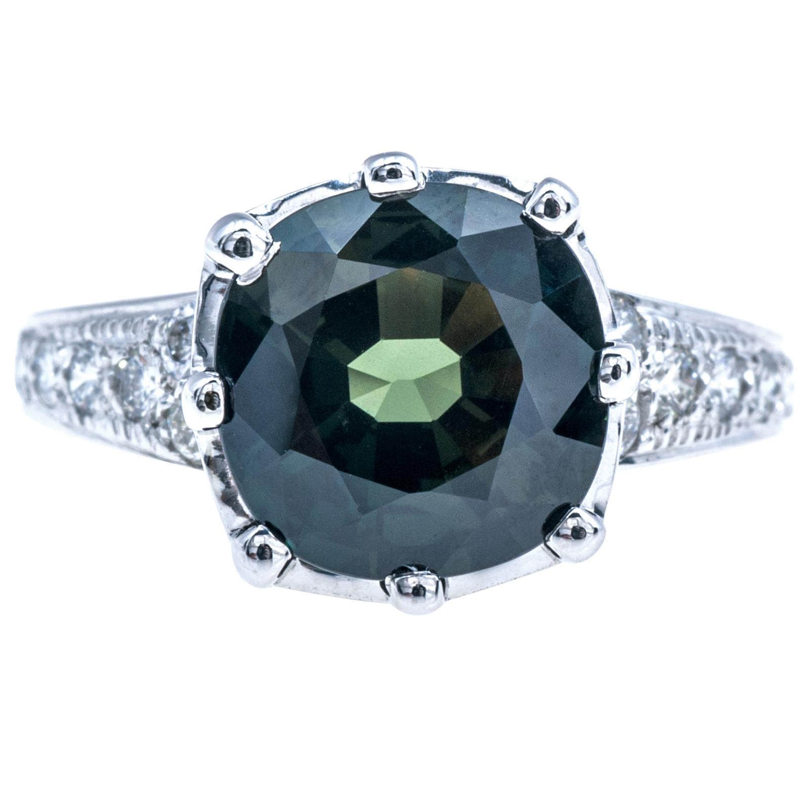Vintage 5.74 CTW Sapphire & Diamond Ring