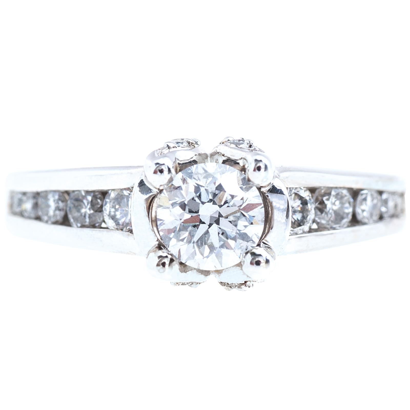 Vintage 0.98 CTW Diamond Engagement Ring