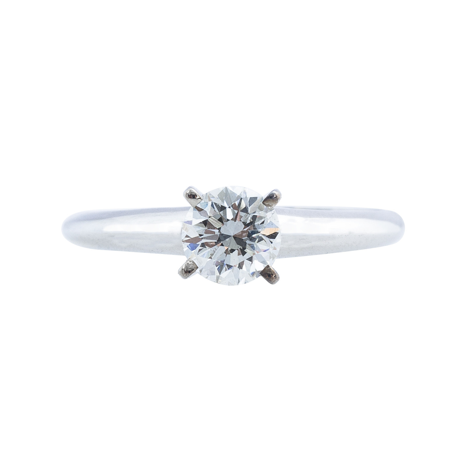Vintage 0.58 CT Diamond Solitaire Engagement Ring