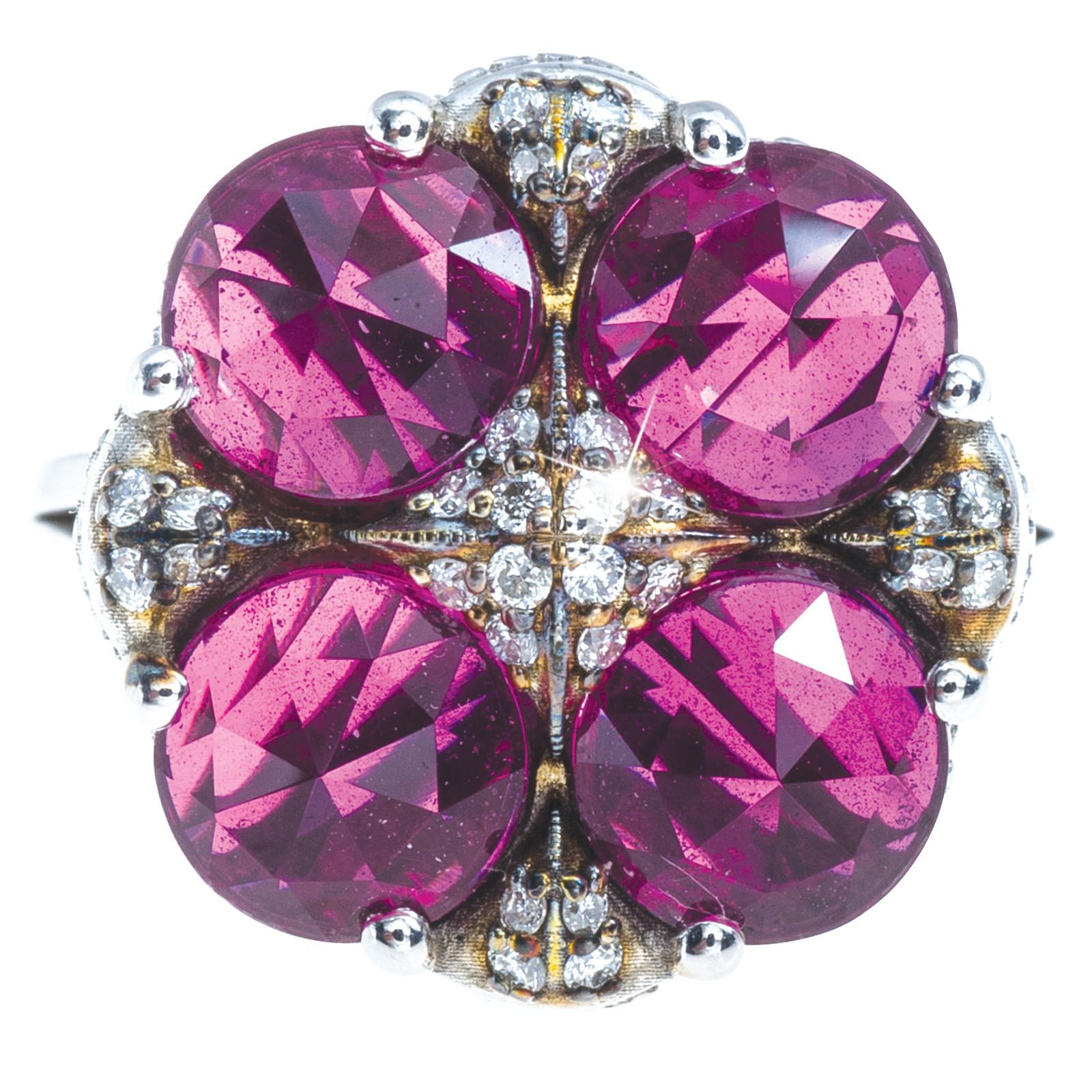 Vintage Tacori 0.20 CTW Diamond & Quartz City Lights Ring