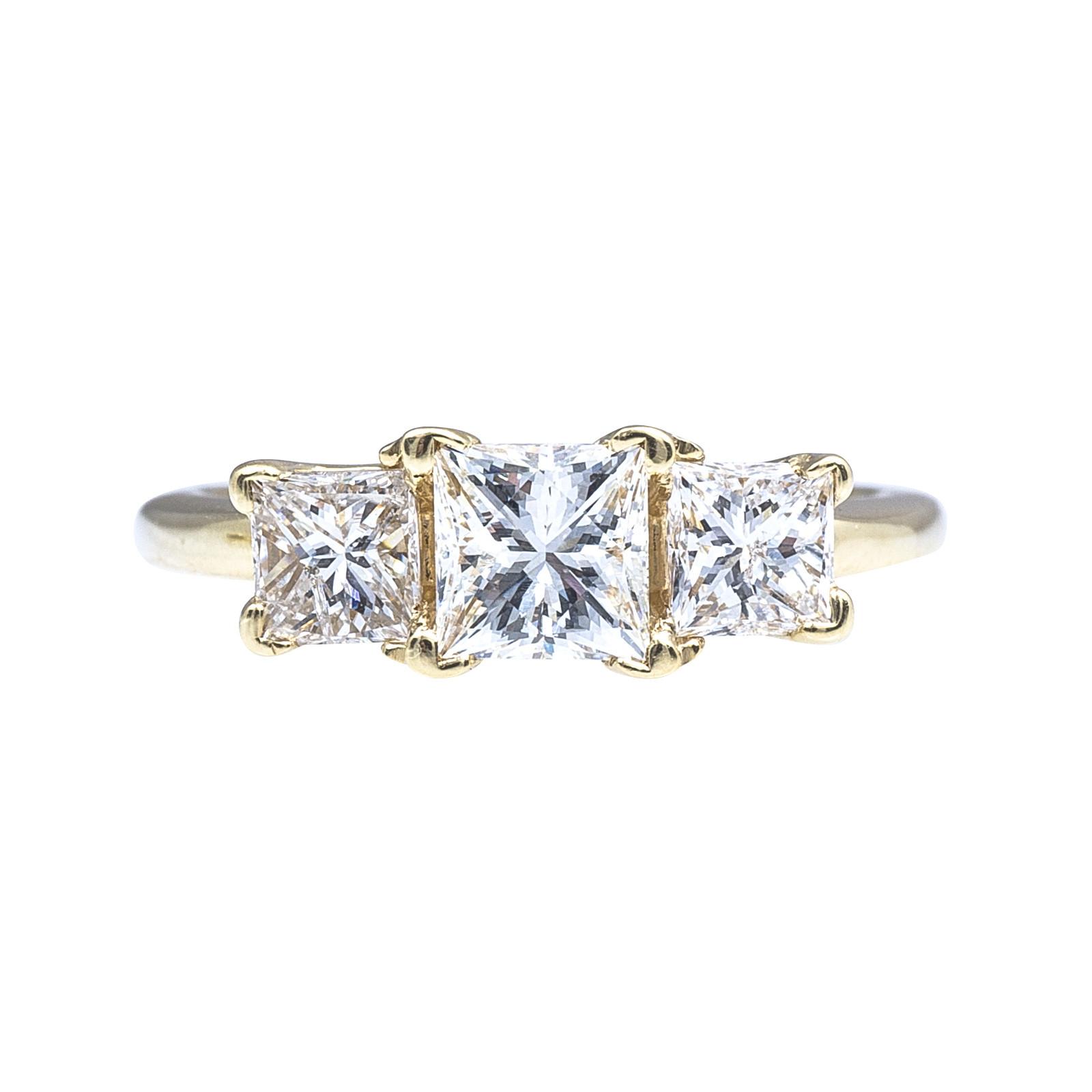 Vintage 1.91 CTW Diamond Three Stone Ring