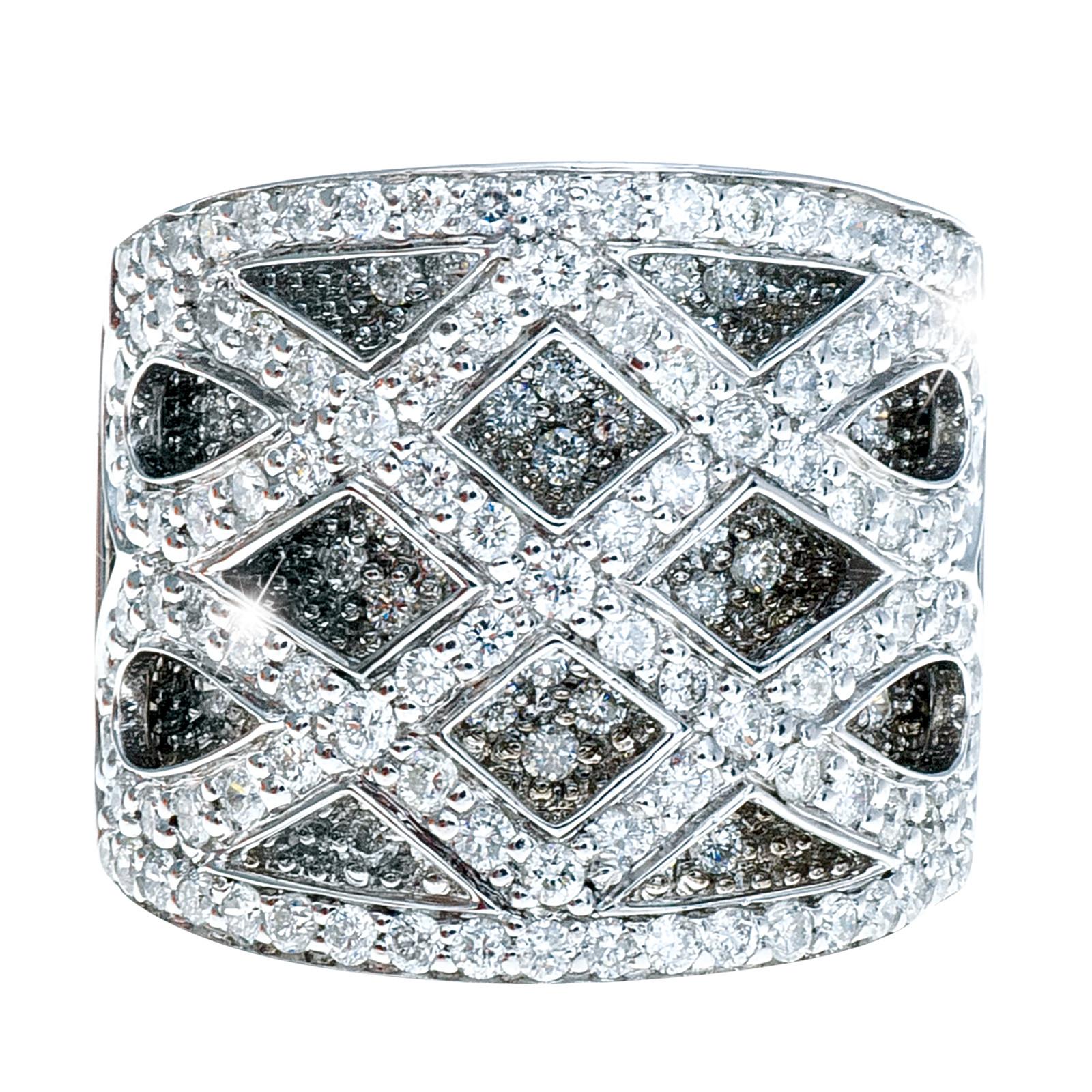 Vntage Sonia B. 1.66 CTW Diamond Criss Cross Ring