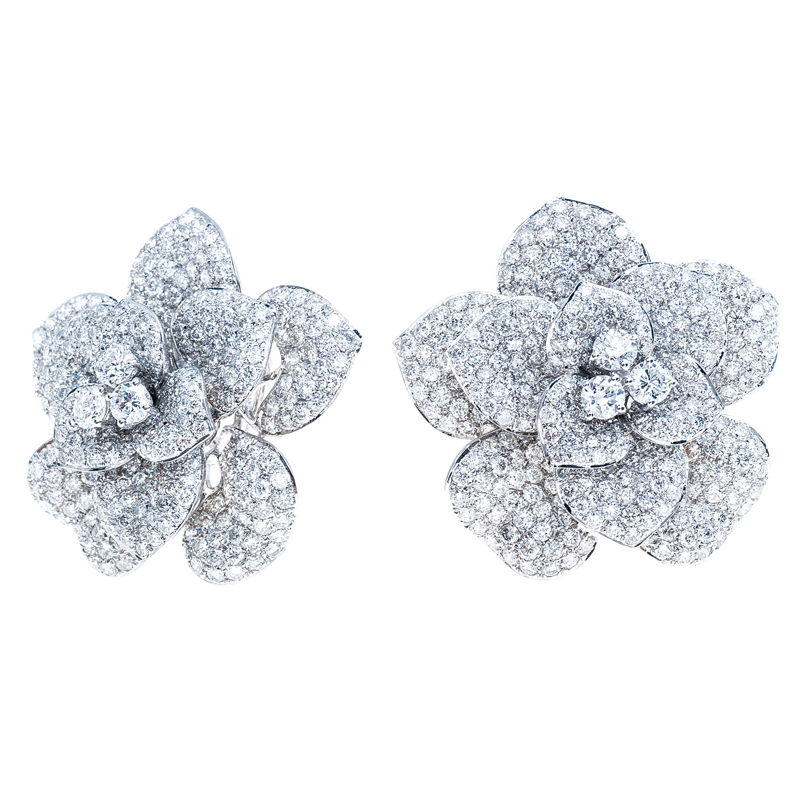 New 10.01 CTW Diamond Flower Earrings