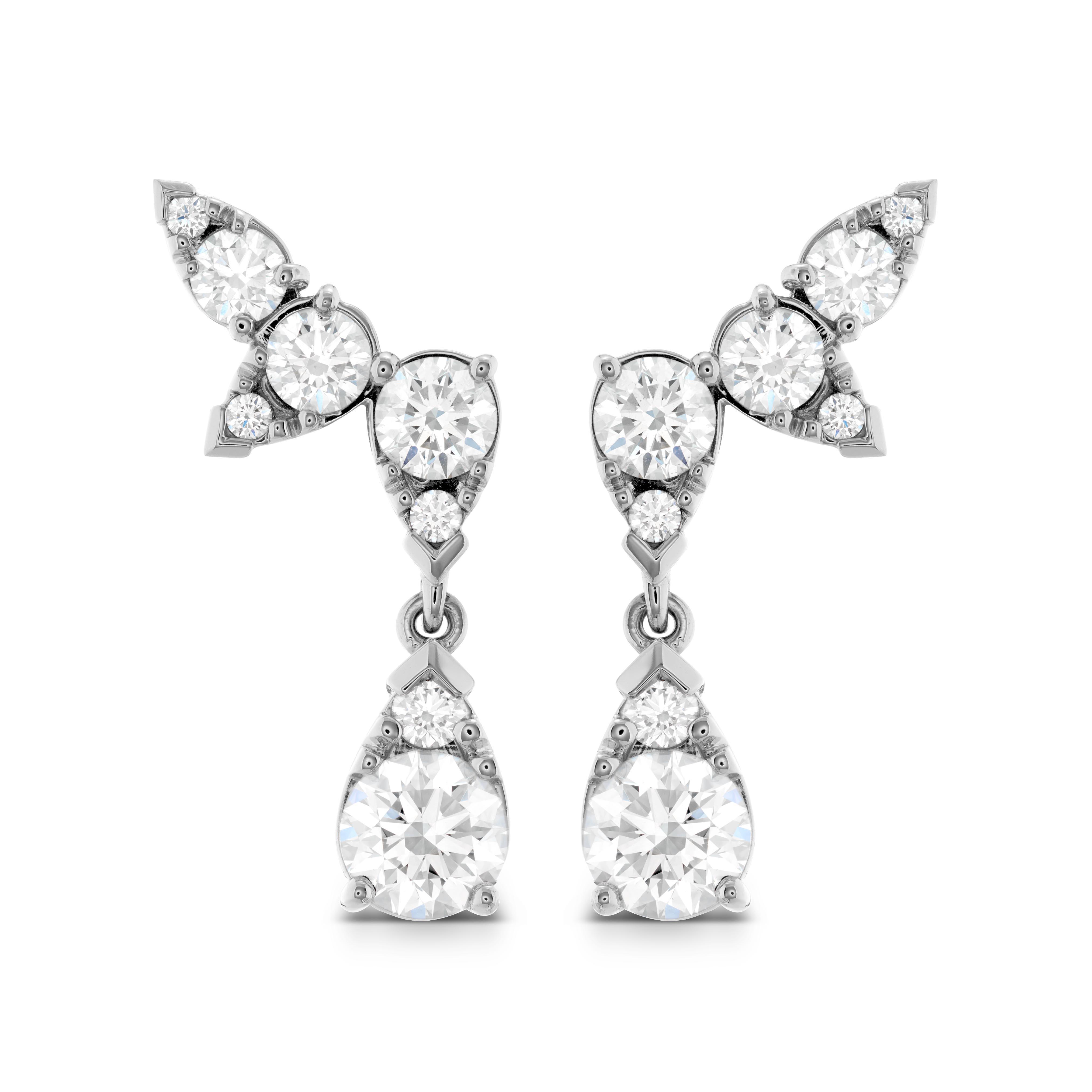New Hearts On Fire® 4.54 Diamond Aerial Drop Ear Vine Earrings