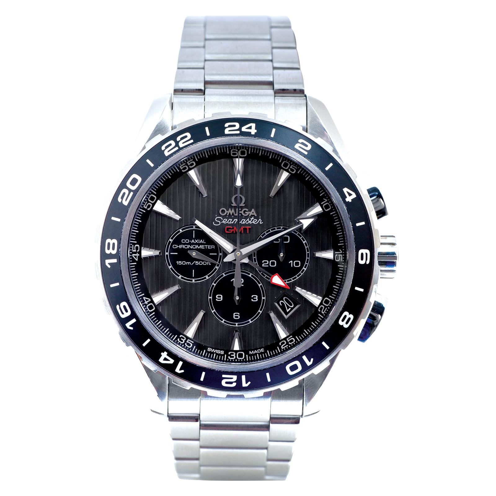 Pre-Owned Omega Seamaster Aqua Terra GMT Chronograph